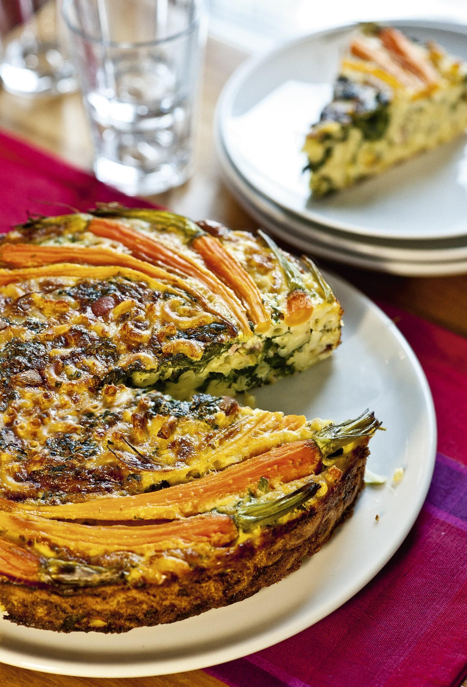 Gâteau de pâtes aux légumes