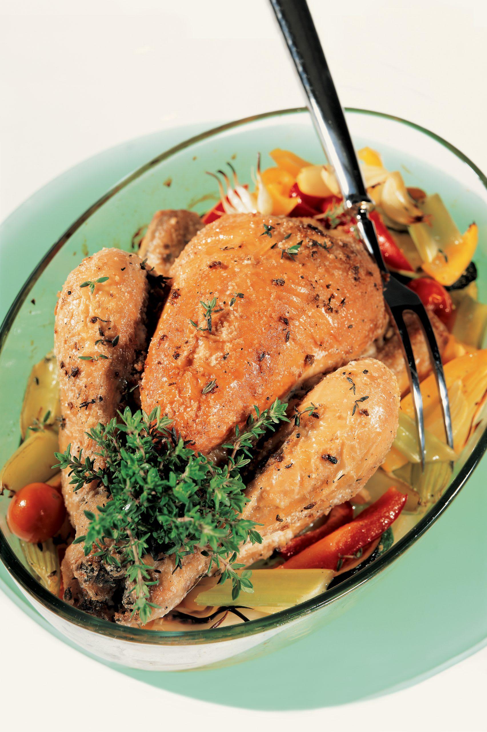 Thymian-Poulet mit Gemüse