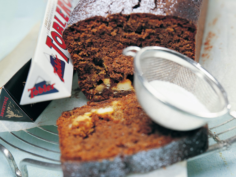 Schwarz-weisser Toblerone-Cake