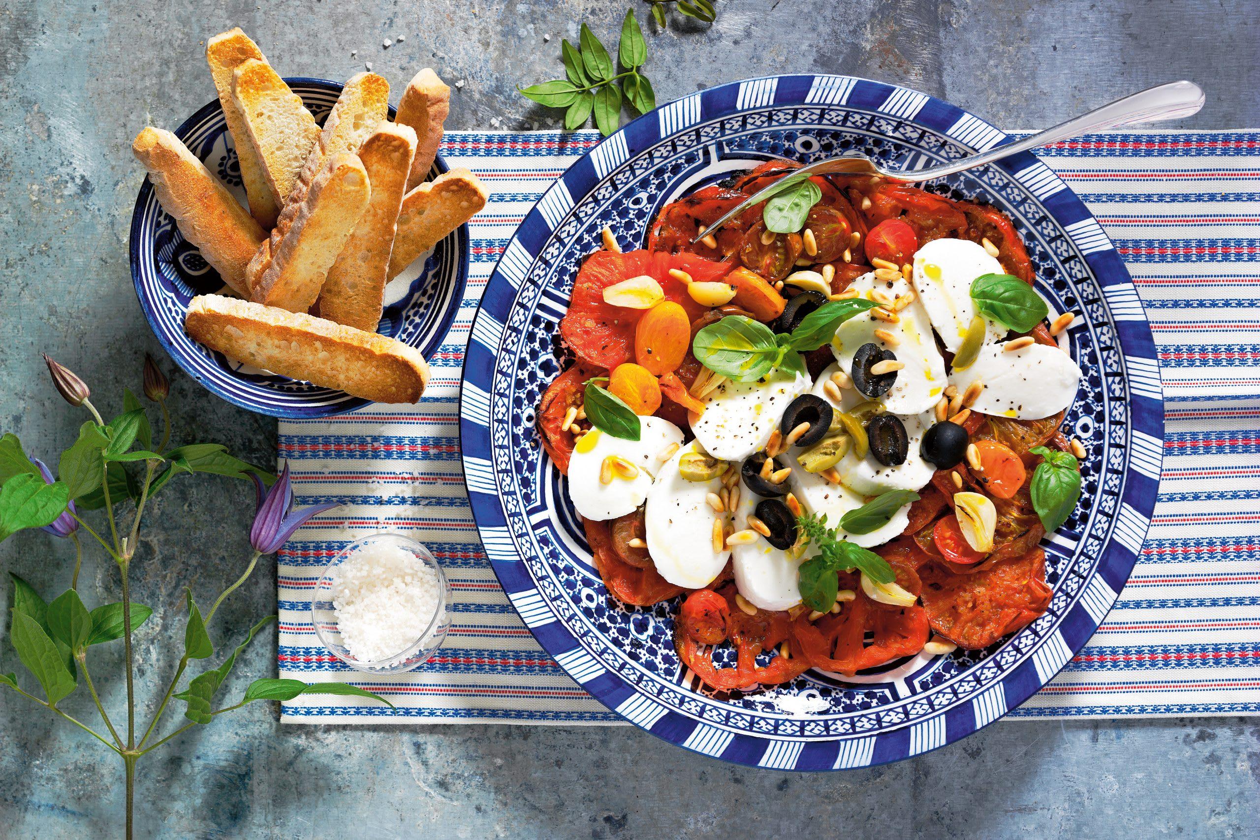 Salade tomate-mozzarella améliorée