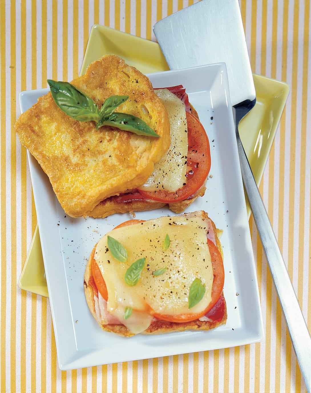 Tomaten-Schinken-Fotzelschnitten