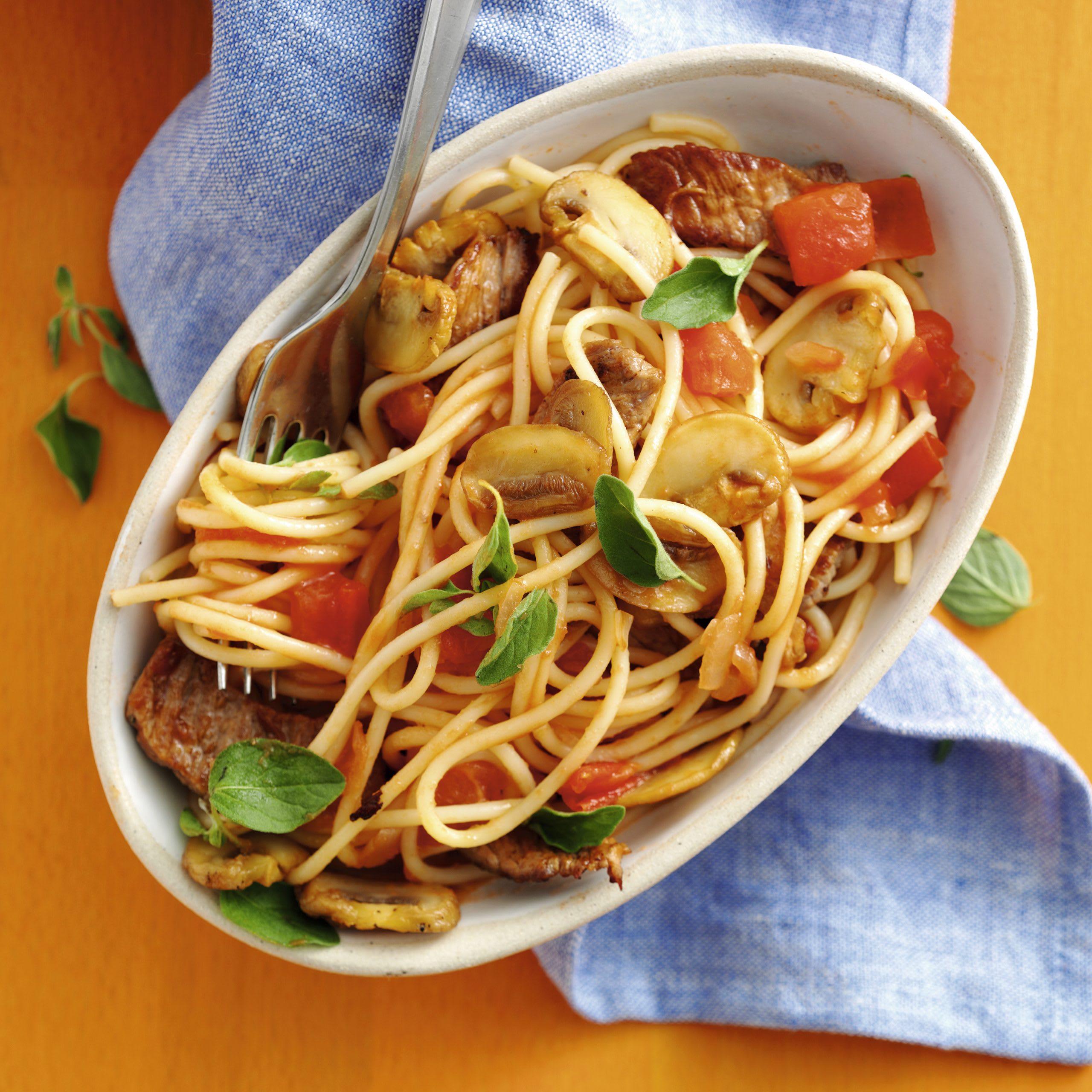 Spaghetti au veau