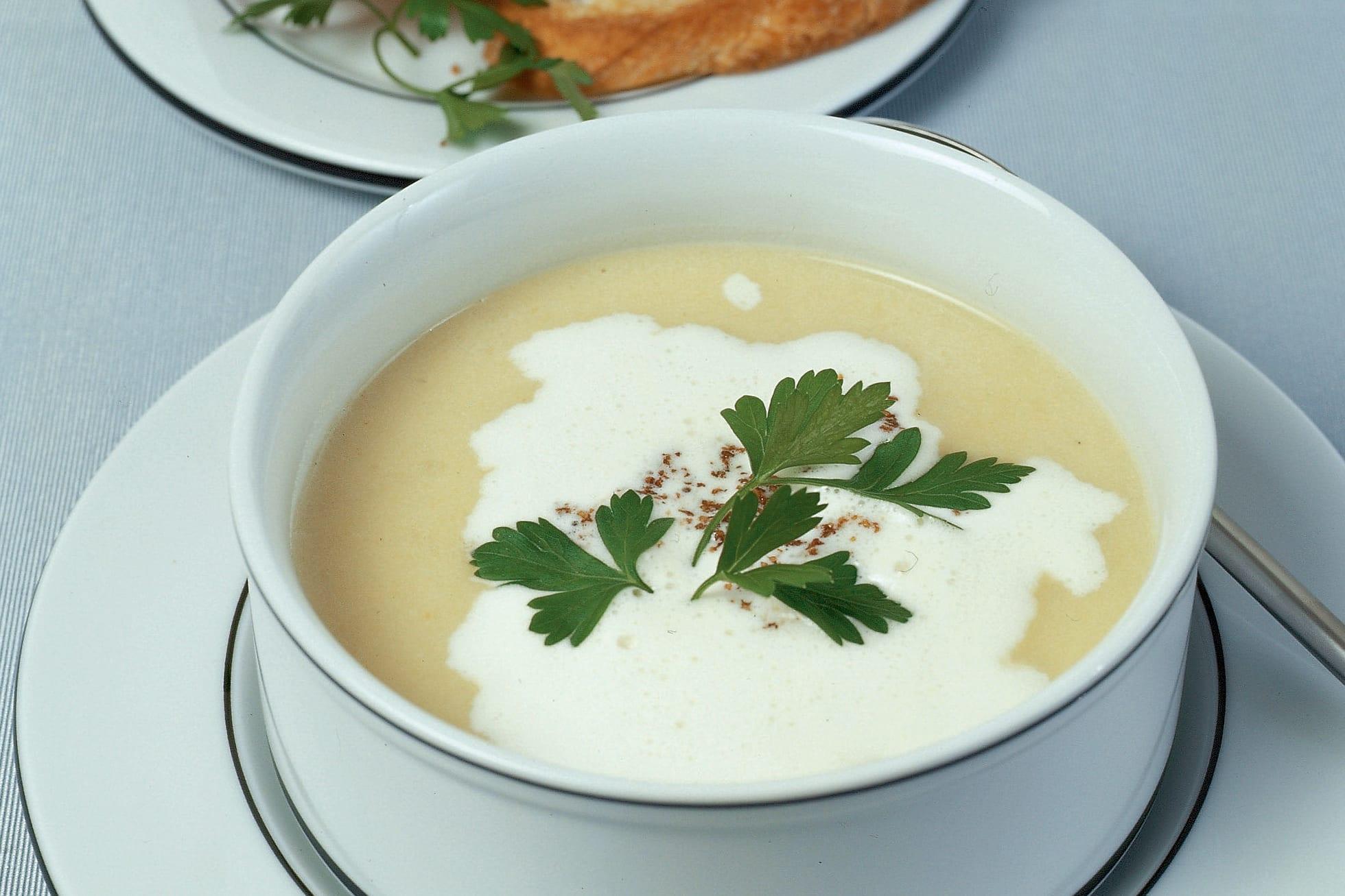Soupe au topinambour et au poireau