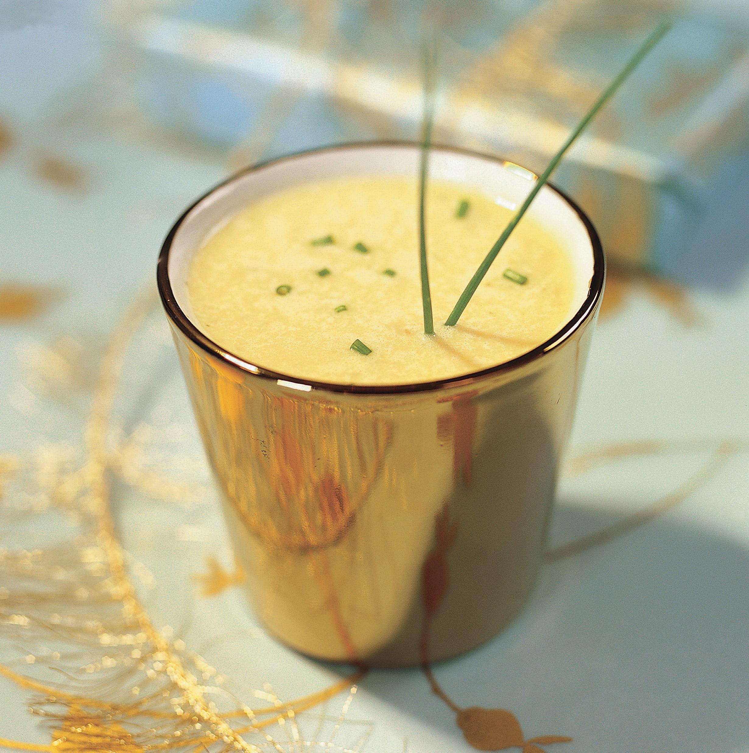 Soupe de topinambour au fromage