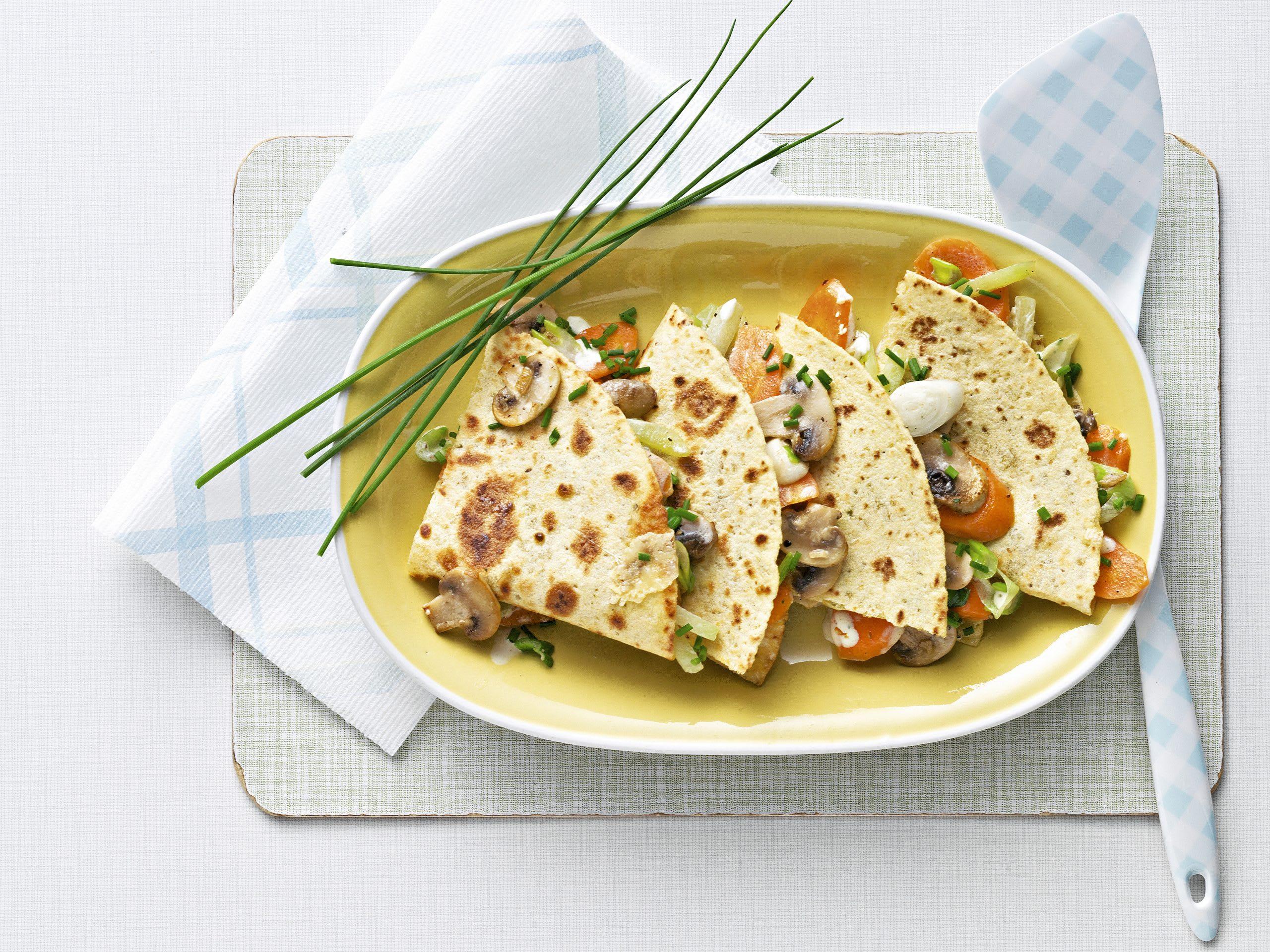 Tortillas farcies aux légumes