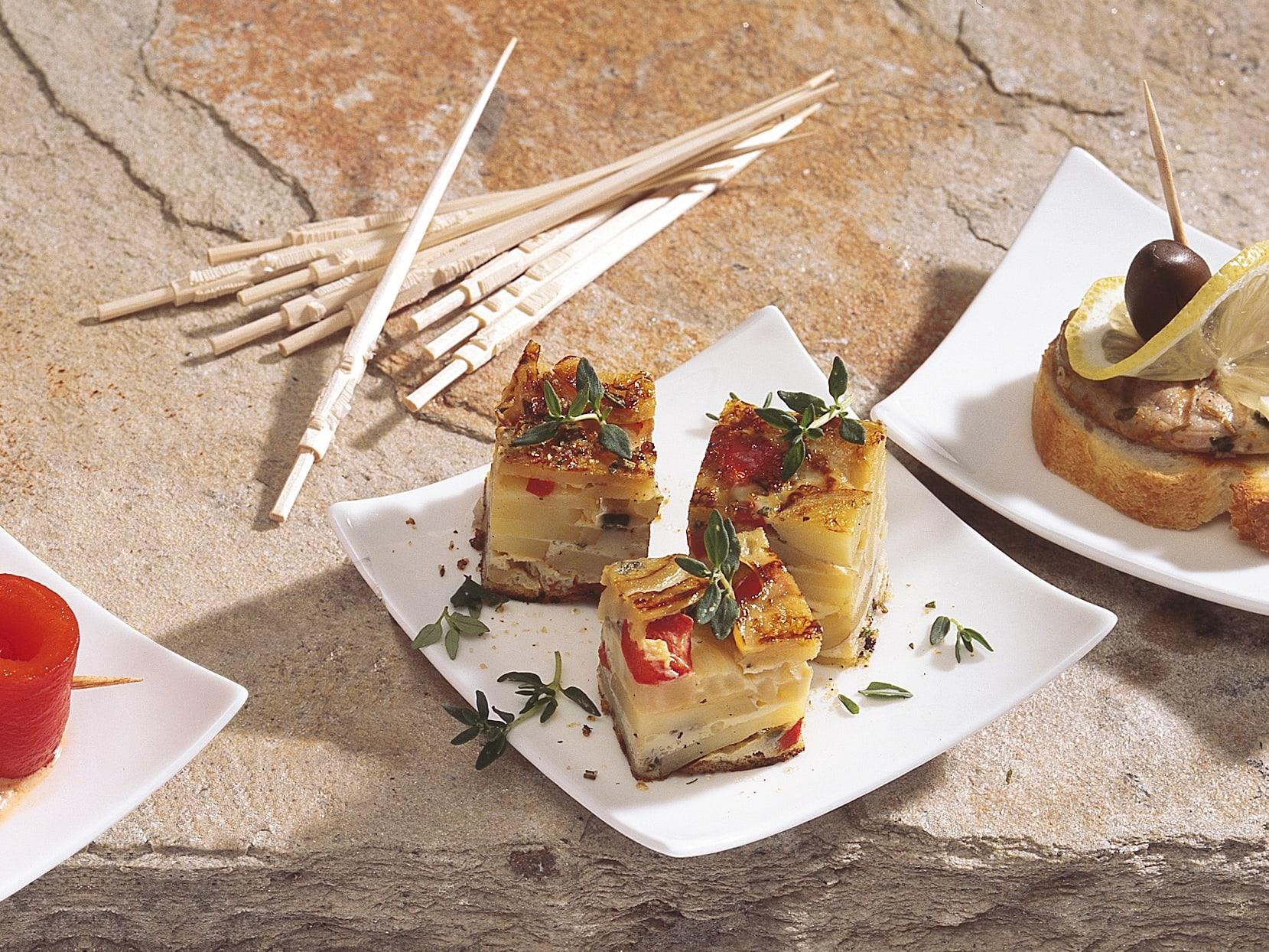 Tortilla mit Peperoni