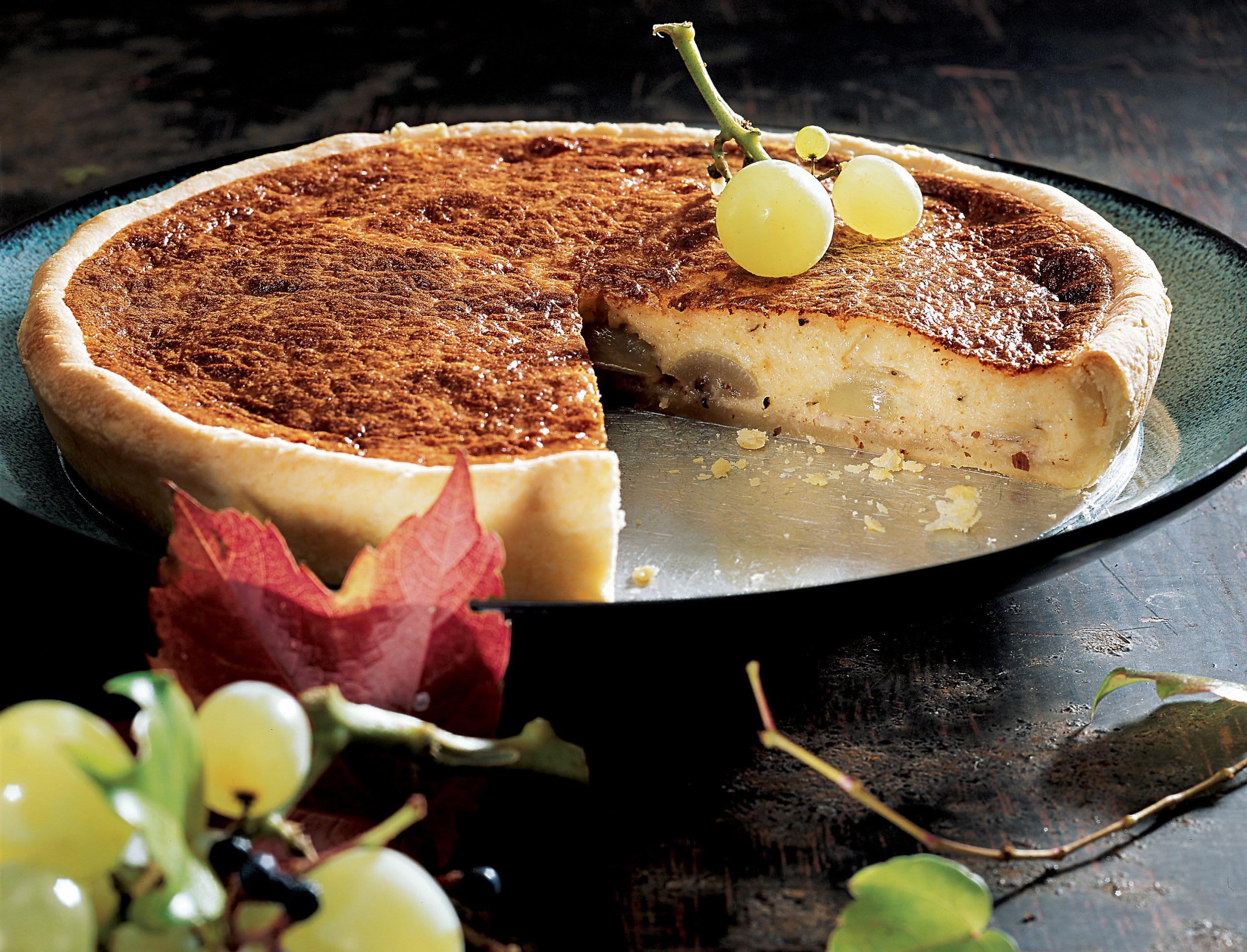 Gâteau au fromage et au raisin