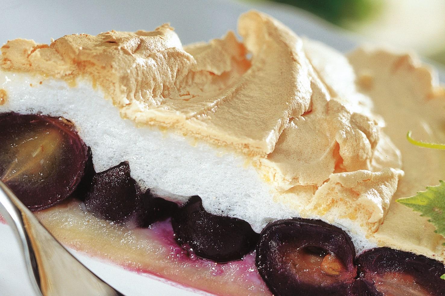 Trauben-Meringue-Kuchen