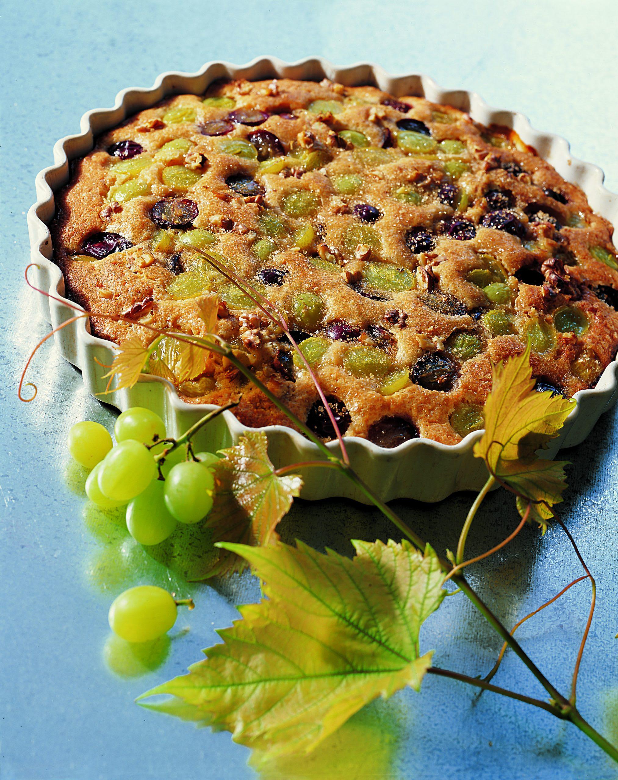 Tarte aux raisins et aux noix