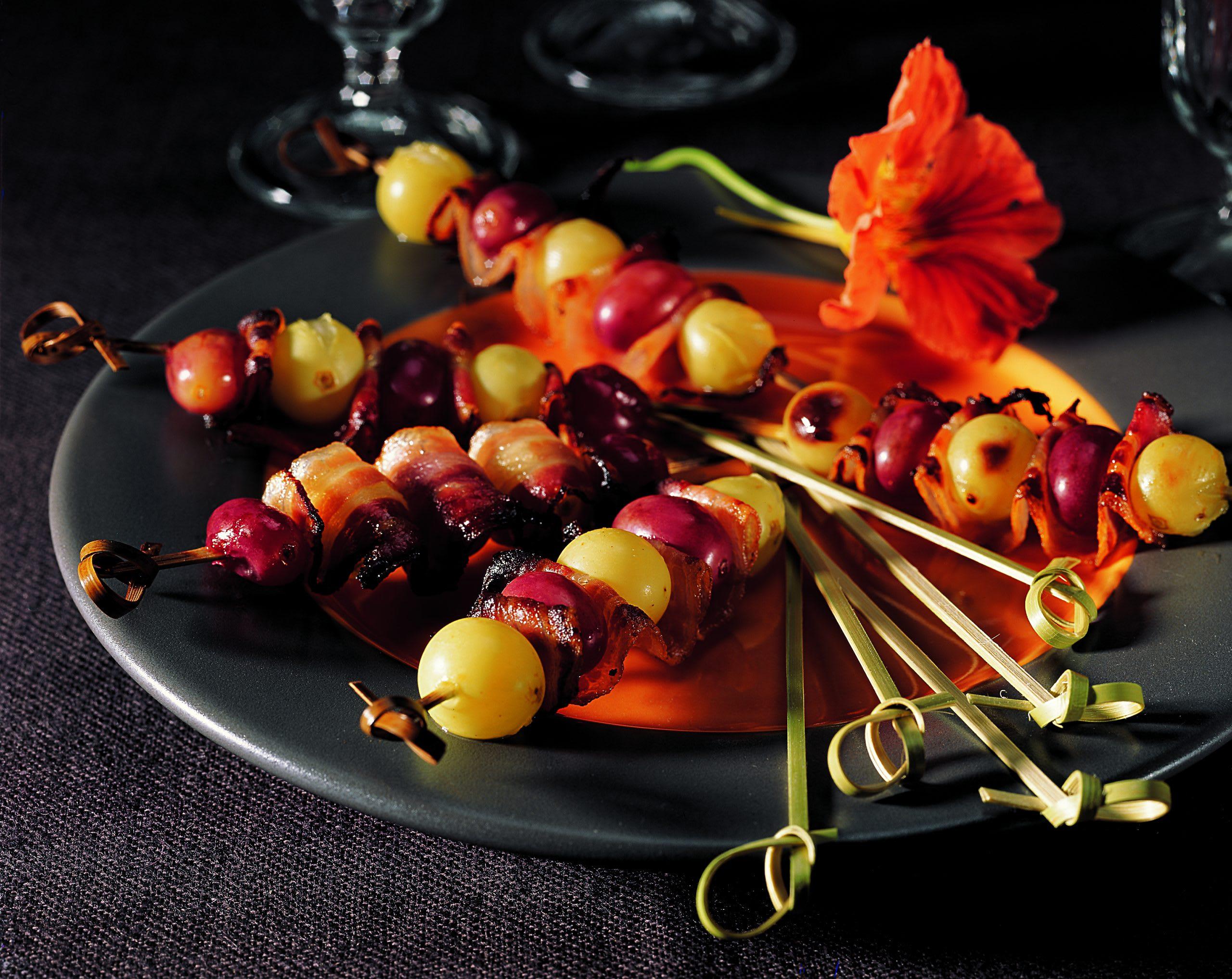 Brochettes d'automne à l'aigre-doux