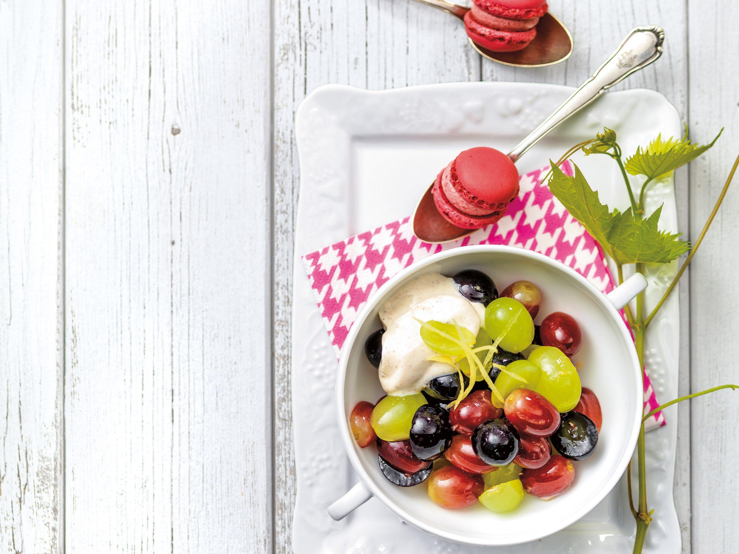 Salade de raisins et séré à la cannelle
