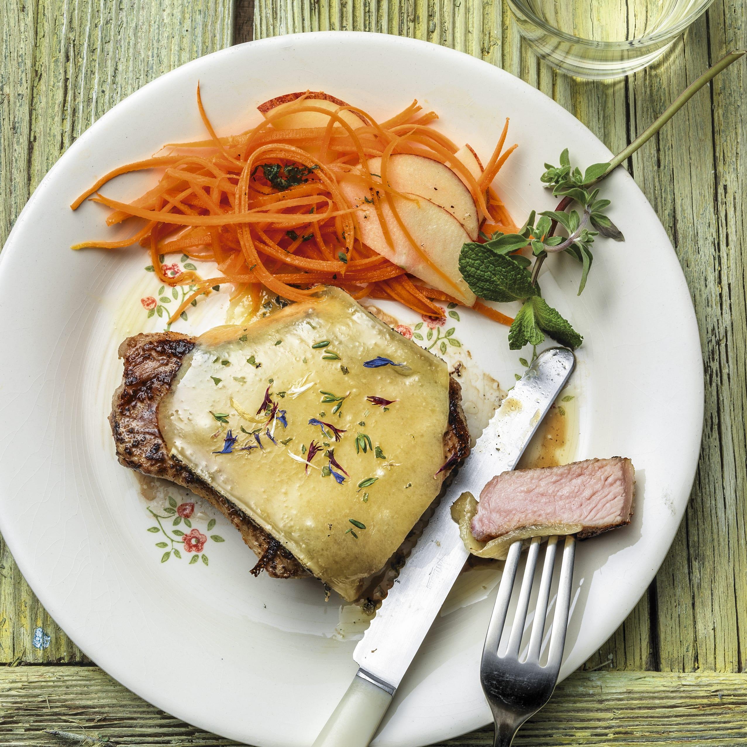 Côtelettes gratinées au fromage de montagne