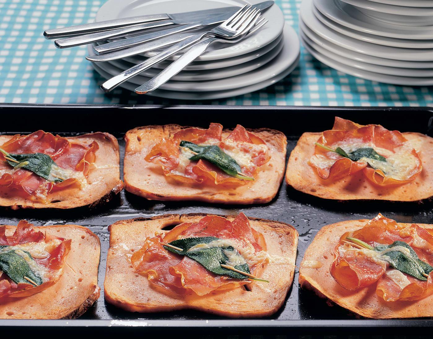 Croûtes au fromage d`Italie