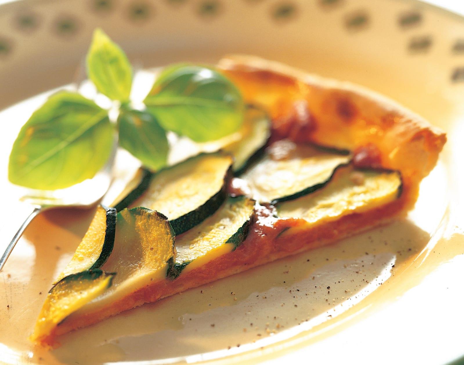 Vacherin-Tarte mit Zucchini