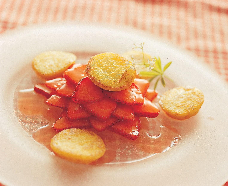 Tartelettes de crème vanillée aux fraises