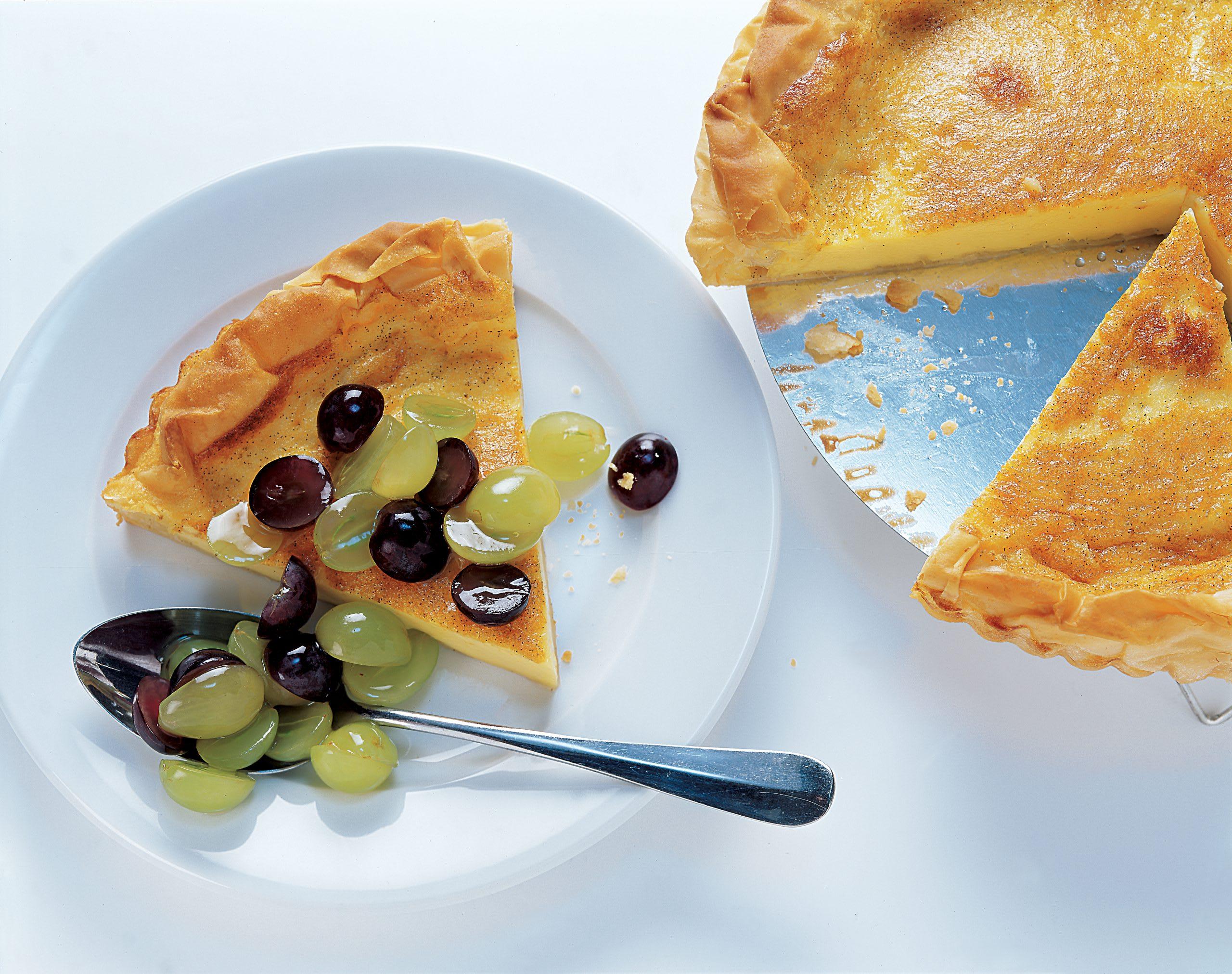 Tarte au raisin et à la vanille