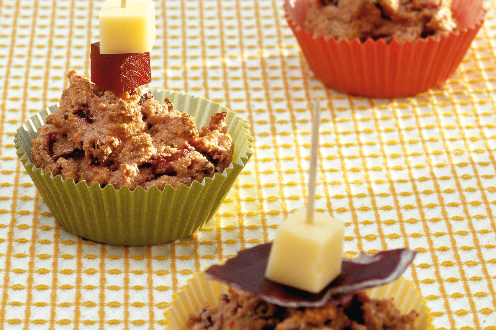 Muffins aux céréales complètes et aux légumes