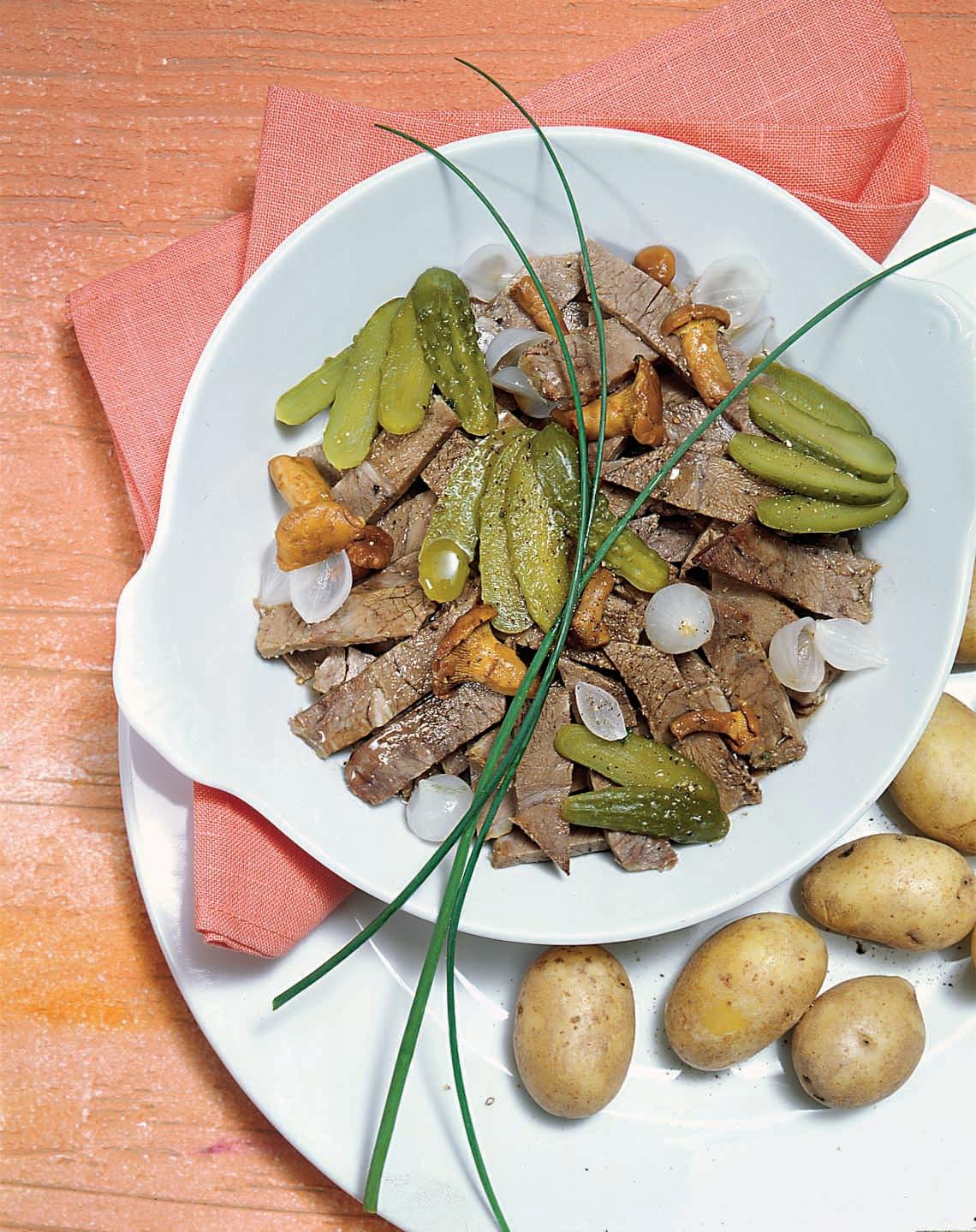 Salade tiède au bouilli