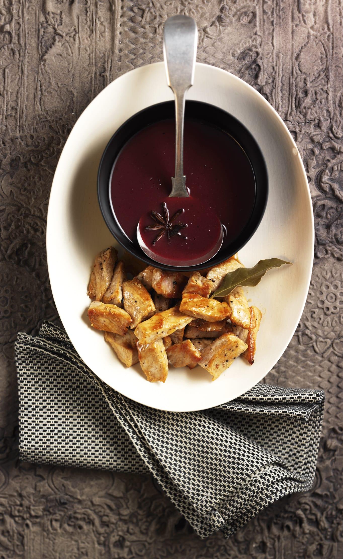 Weihnachtliche Rotweinsauce zu Geschnetzeltem
