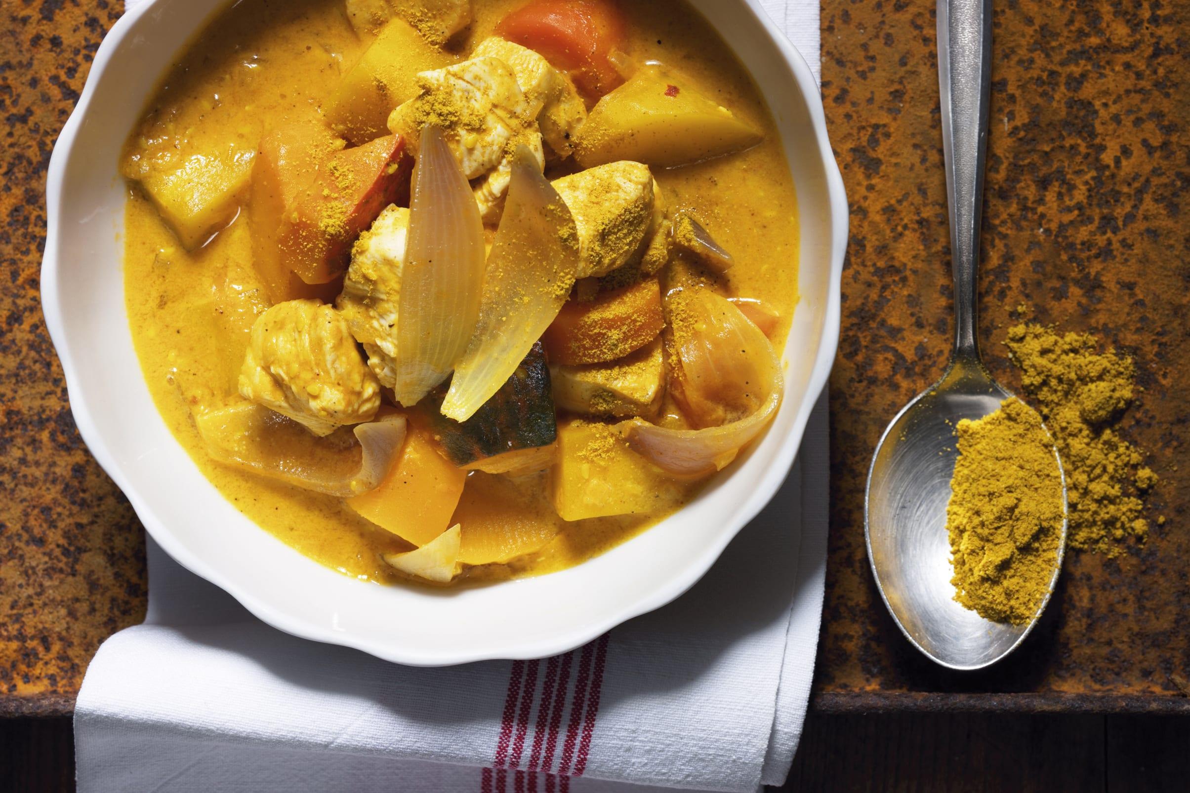 Curry de légumes d'hiver aux dés de poulet