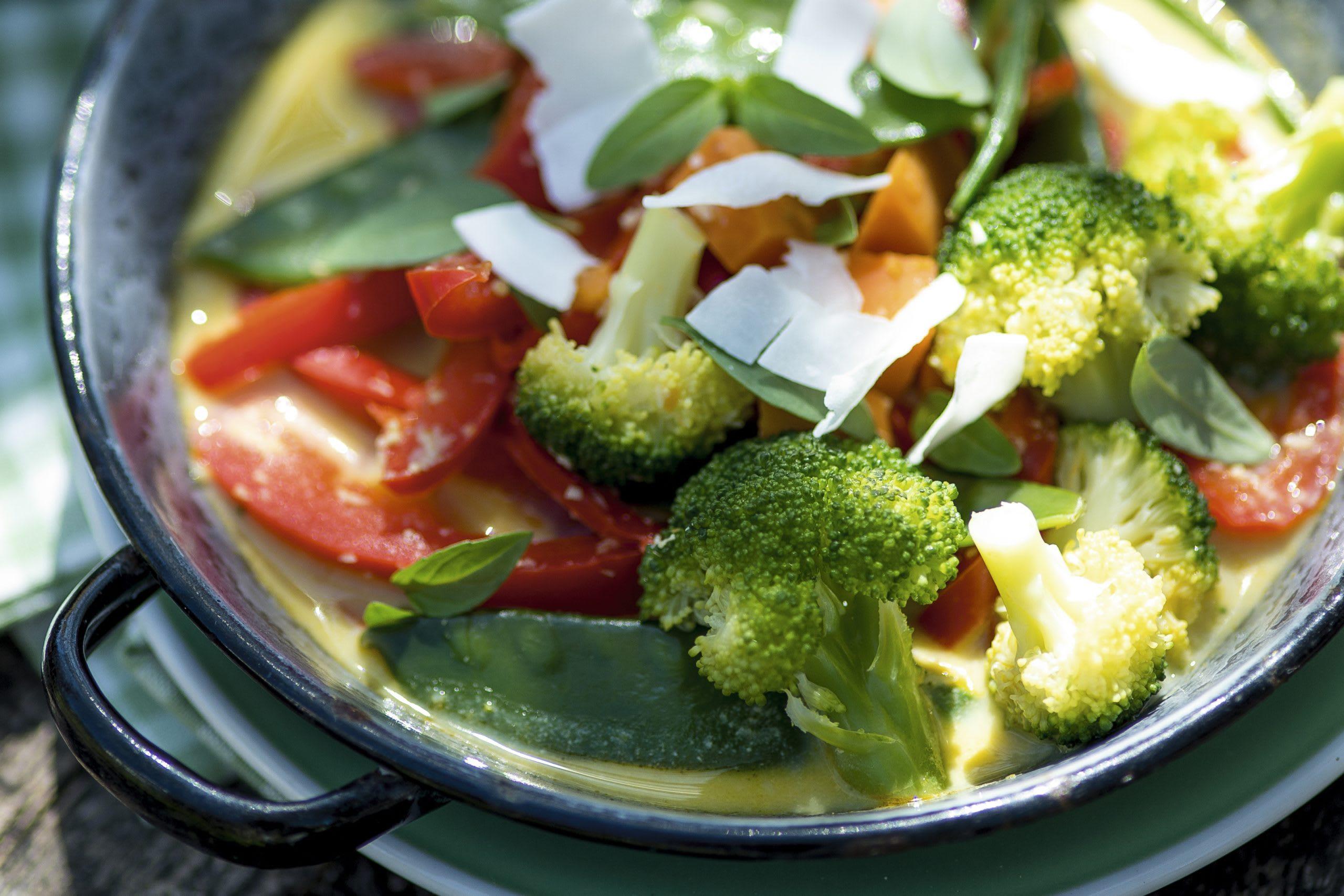 Wokgemüse mit Currysauce