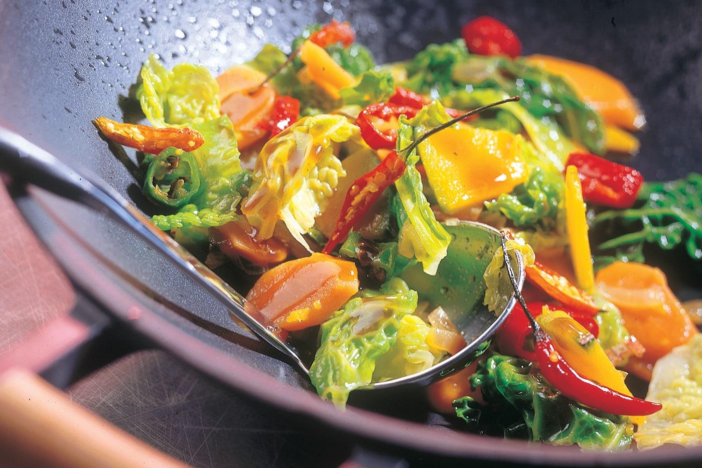 Wok de légumes et sauce soja-miel