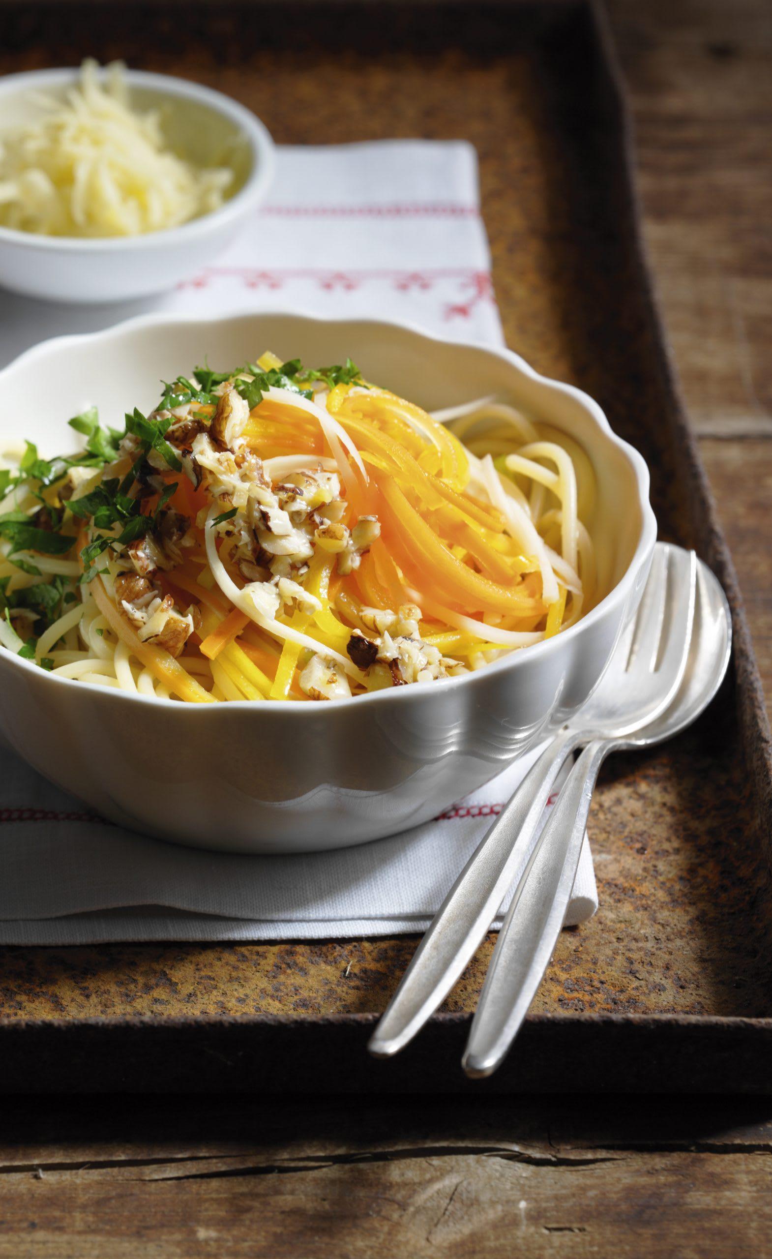 Spaghetti aux légumes-racines