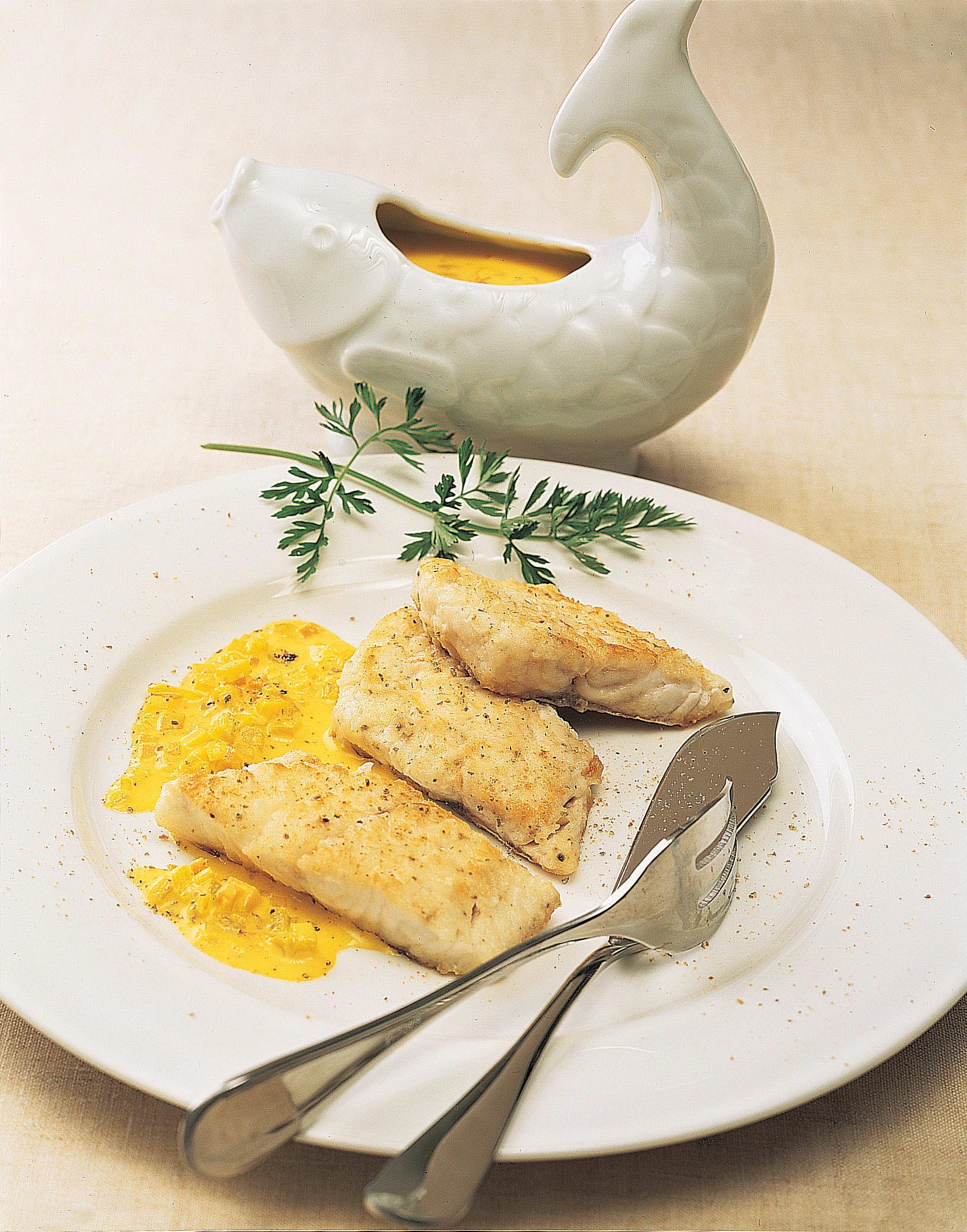 Filets de sandre sauce safran