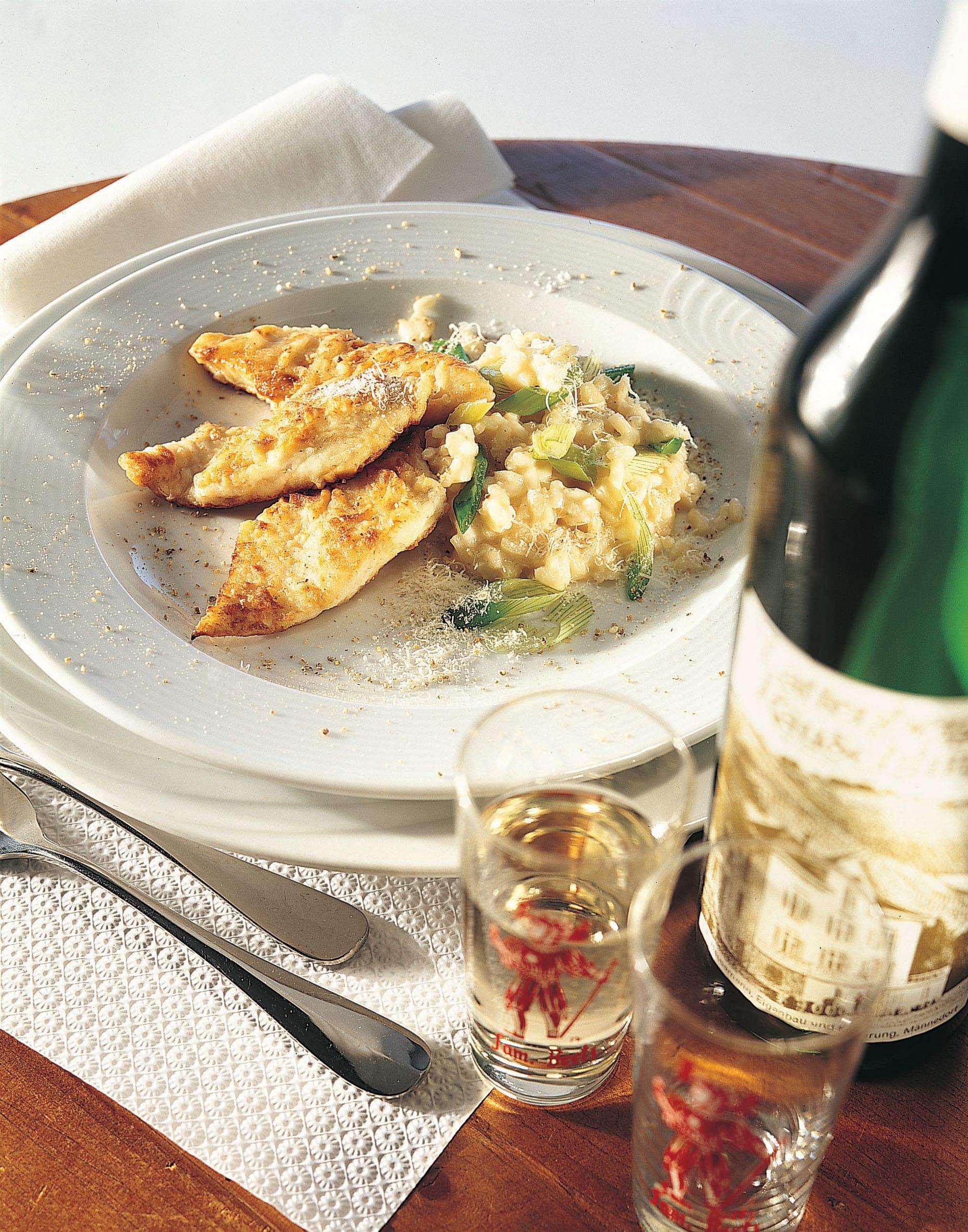 Filets de sandre et risotto printanier