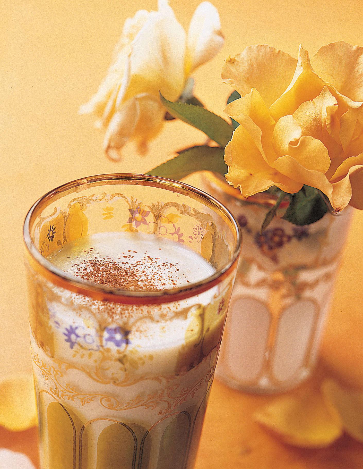 Milkshake rose-cannelle