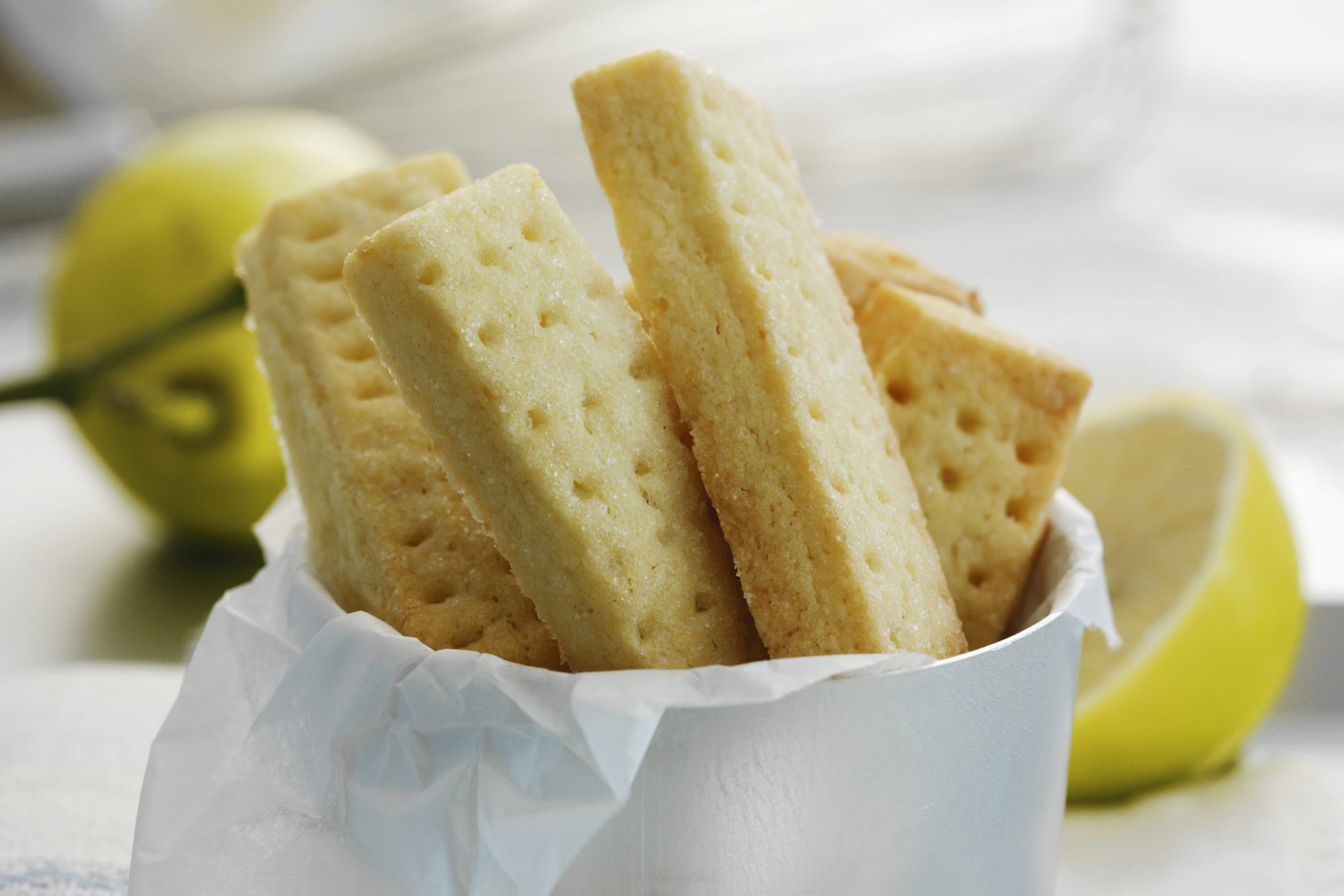 Biscuits shortbreads au citron