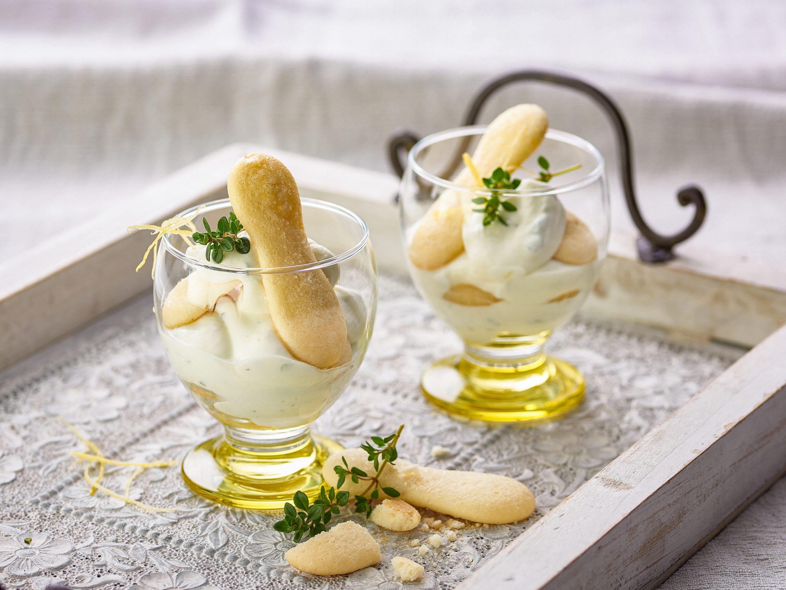 Tiramisu au citron en verrines (sans oeufs)