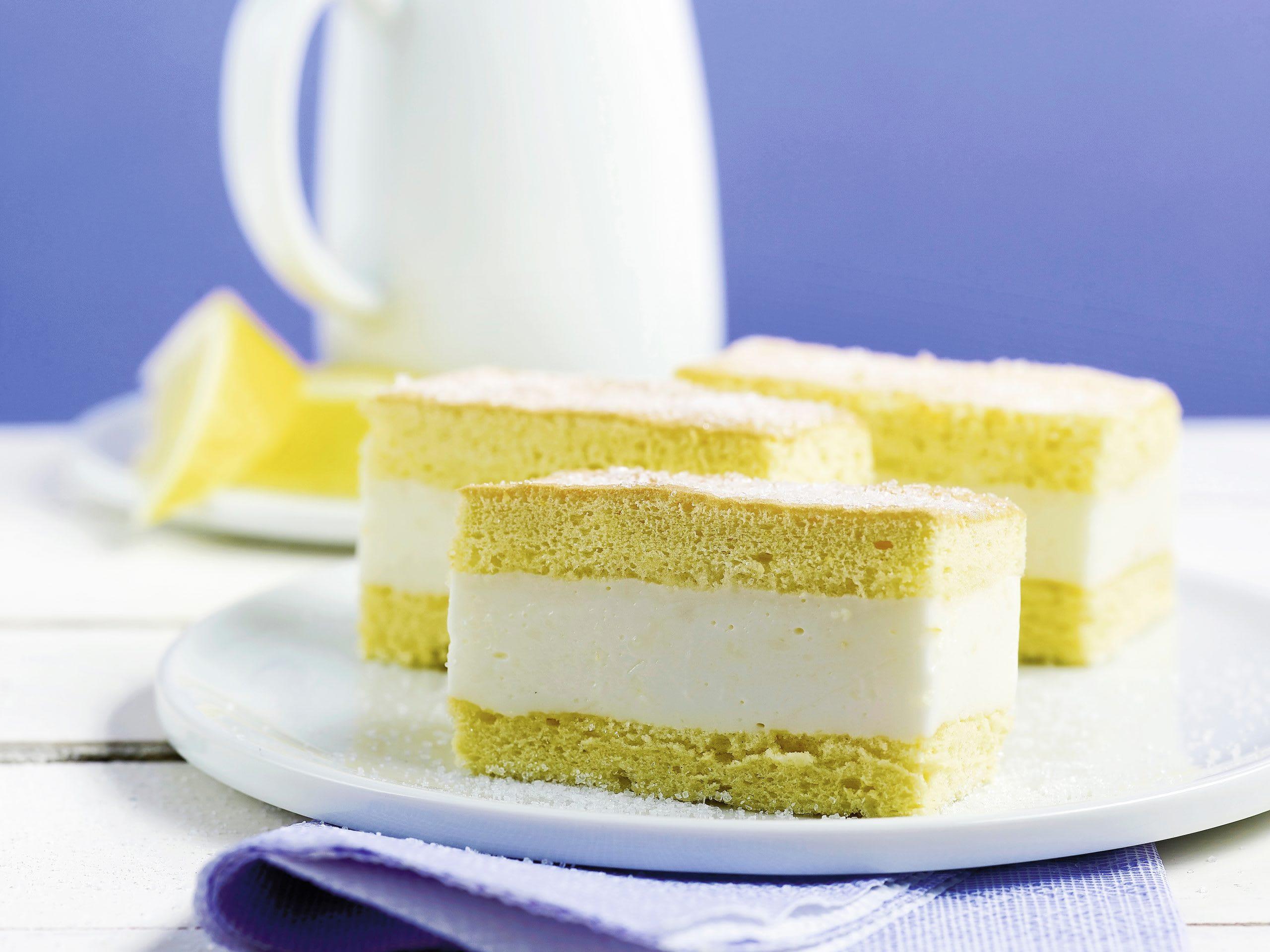Tranches au citron fourrées au yogourt