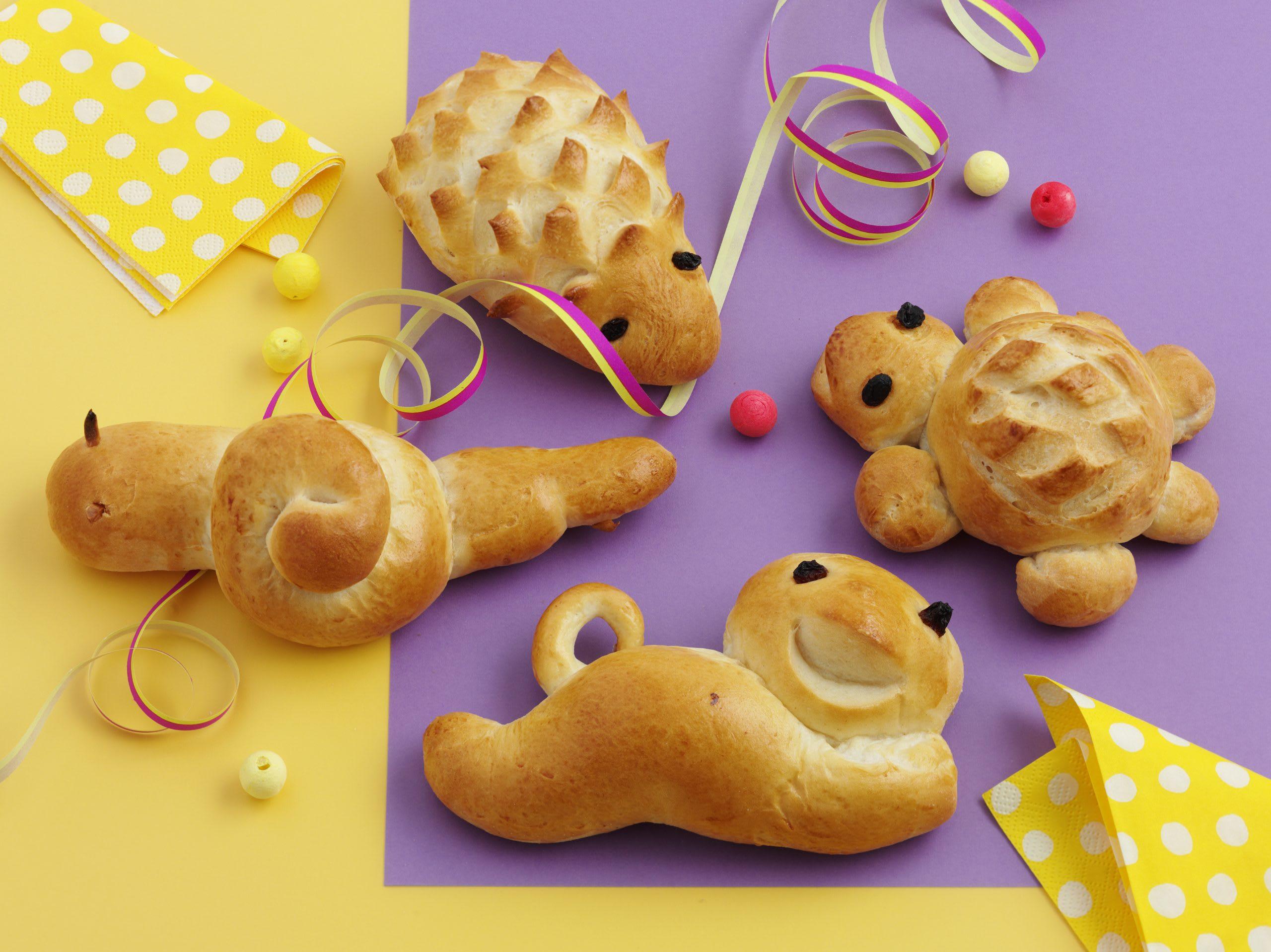 Animaux en pâte à tresse: Hérisson, chat, tortue, escargot