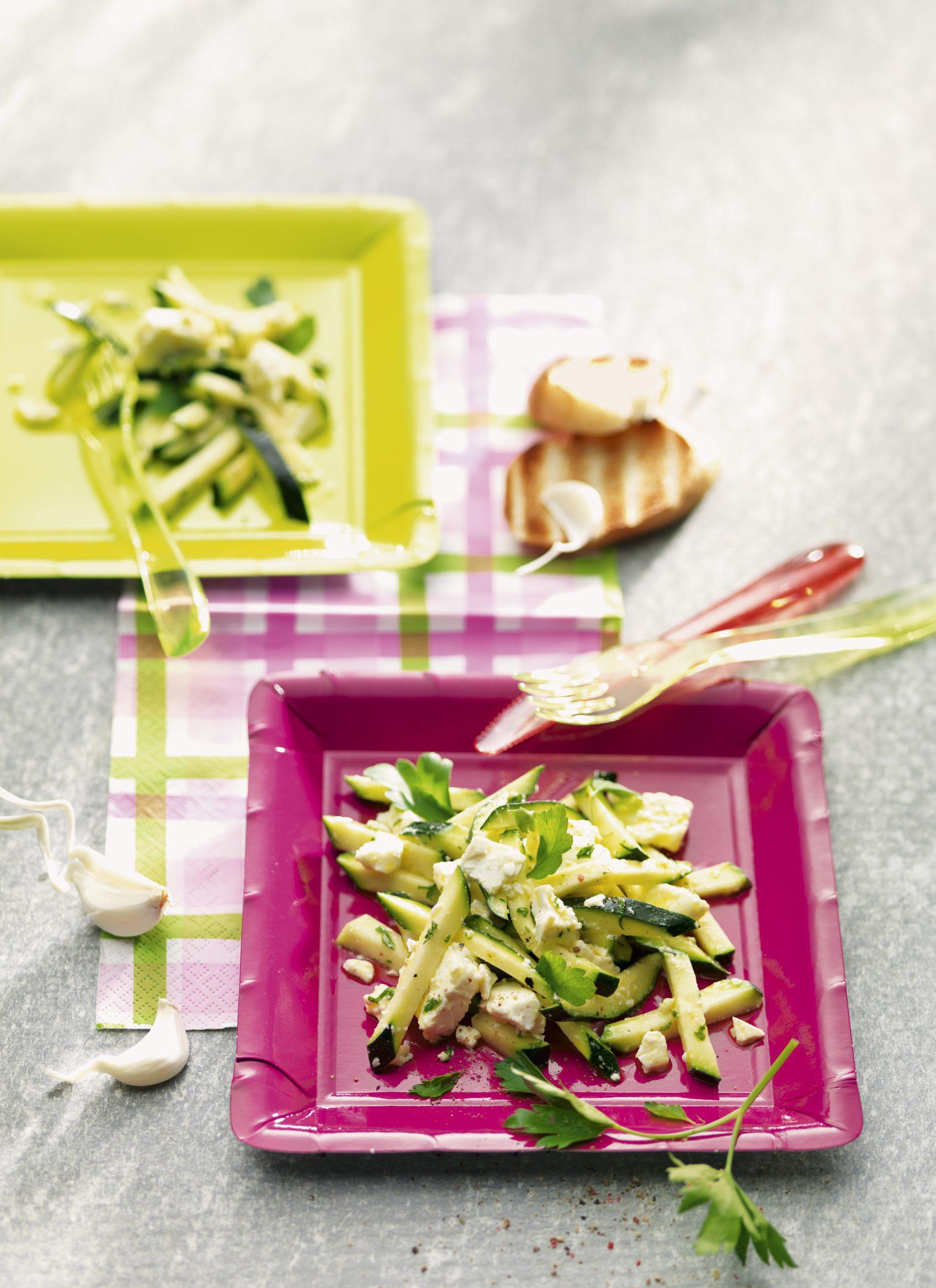 Salade de courgettes au fromage frais