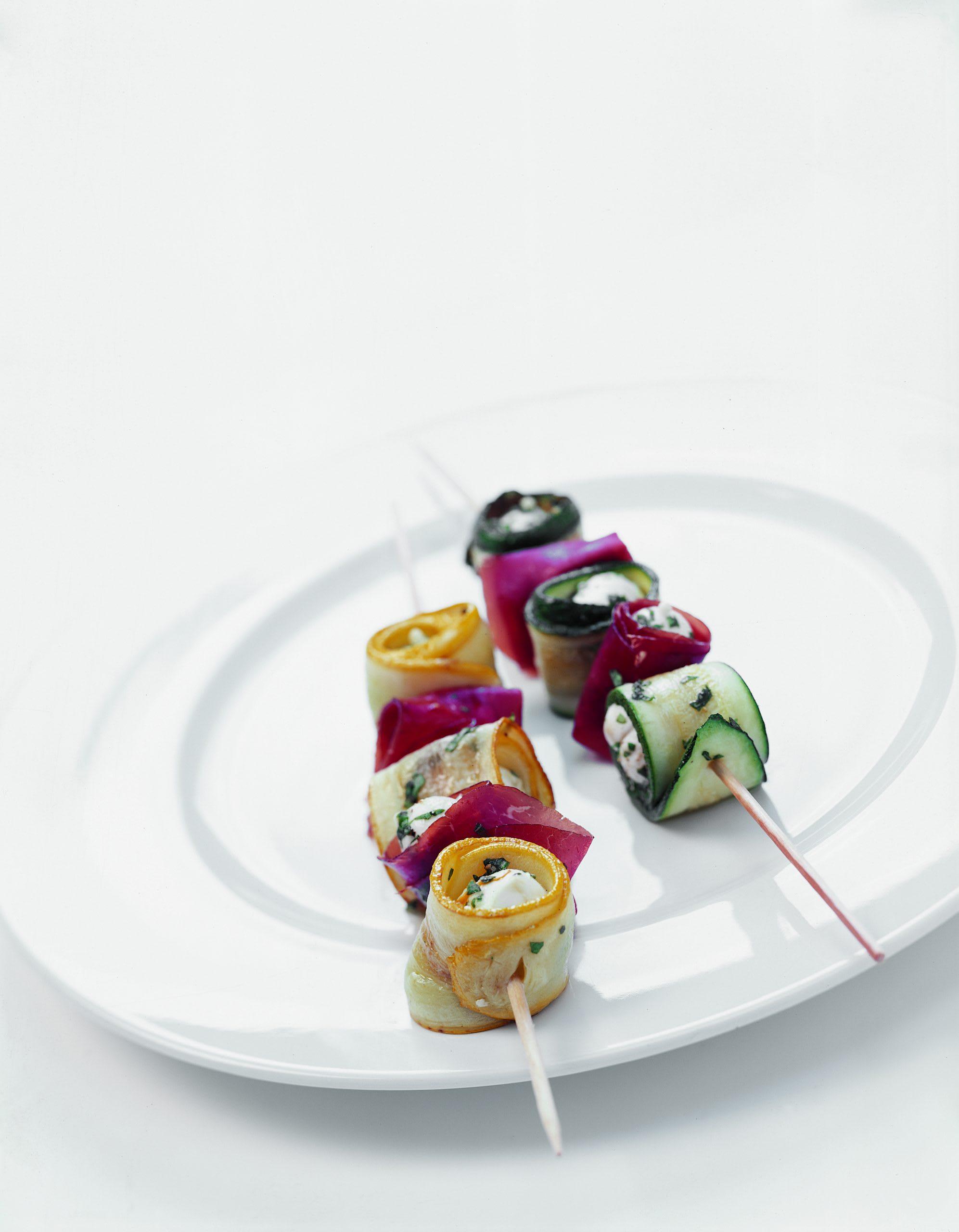 Zucchini-Mozzarella-Spiesse