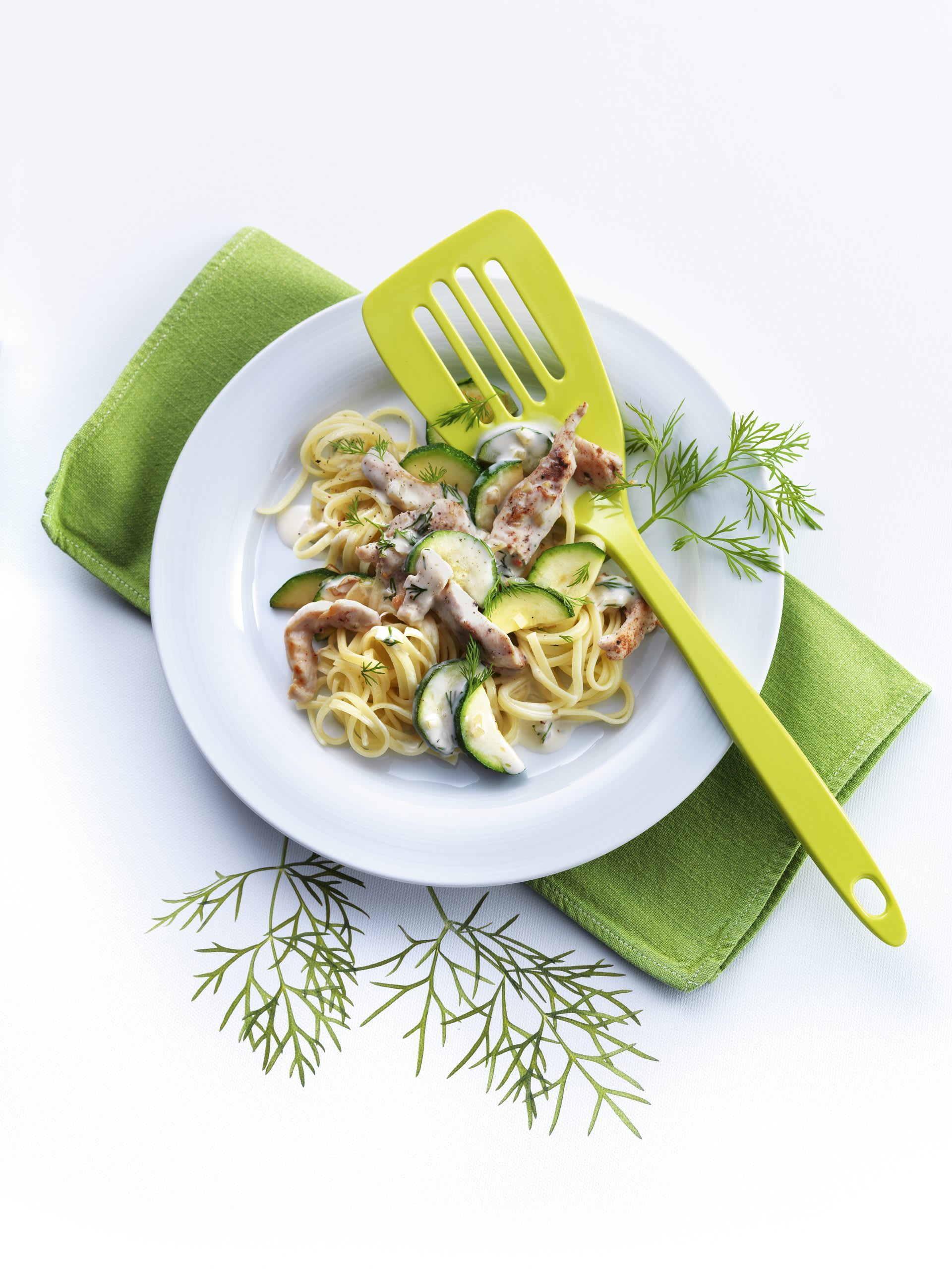 Zucchini-Poulet-Pfanne