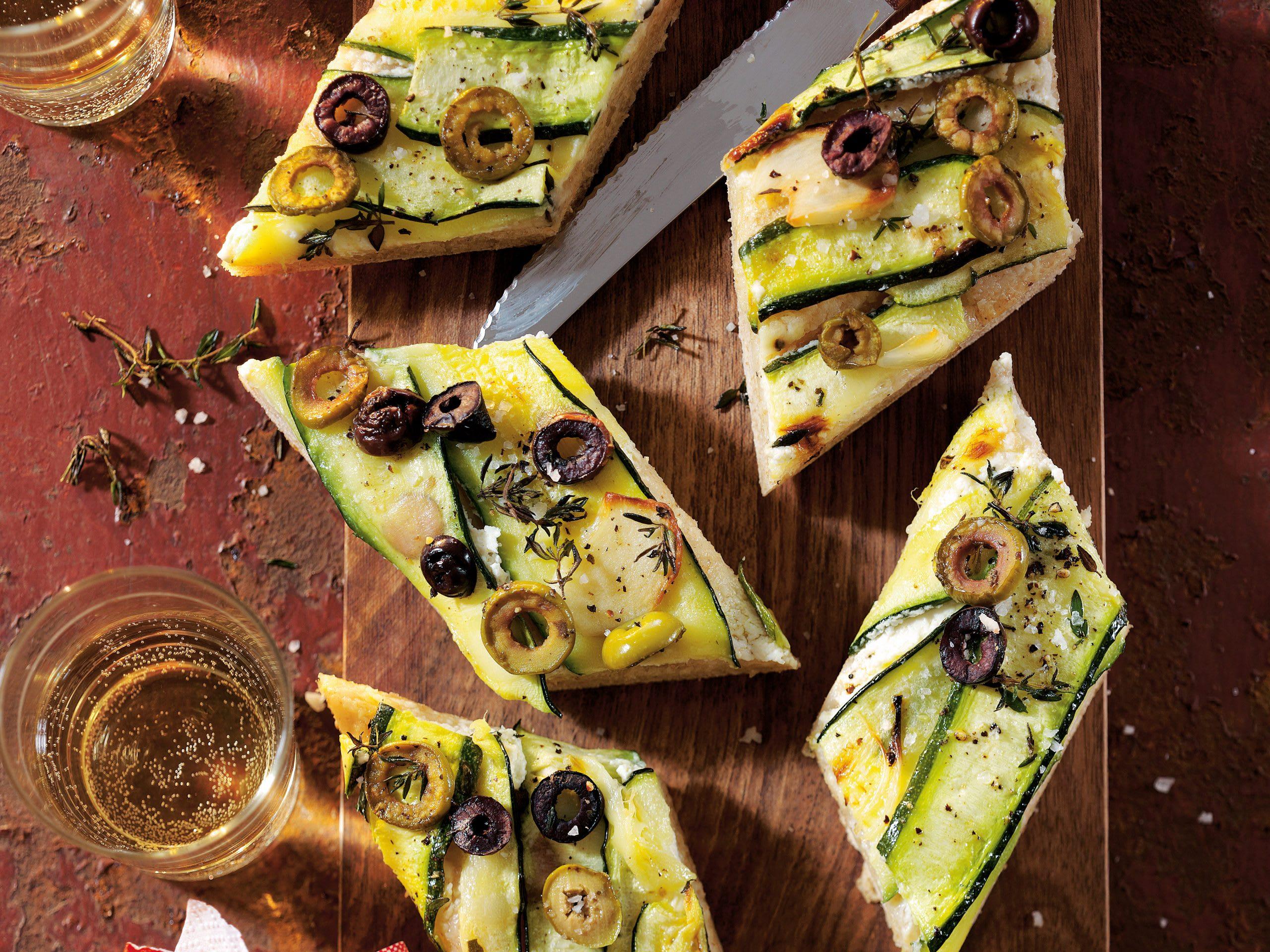 Zucchini-Rhomben