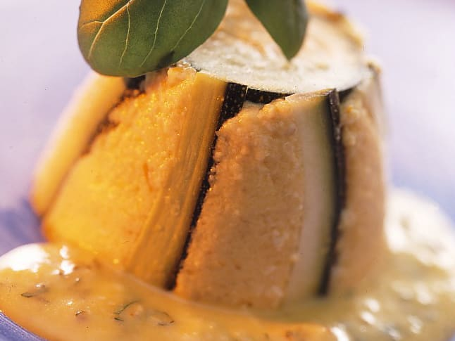 Timbale de courgette au fromage