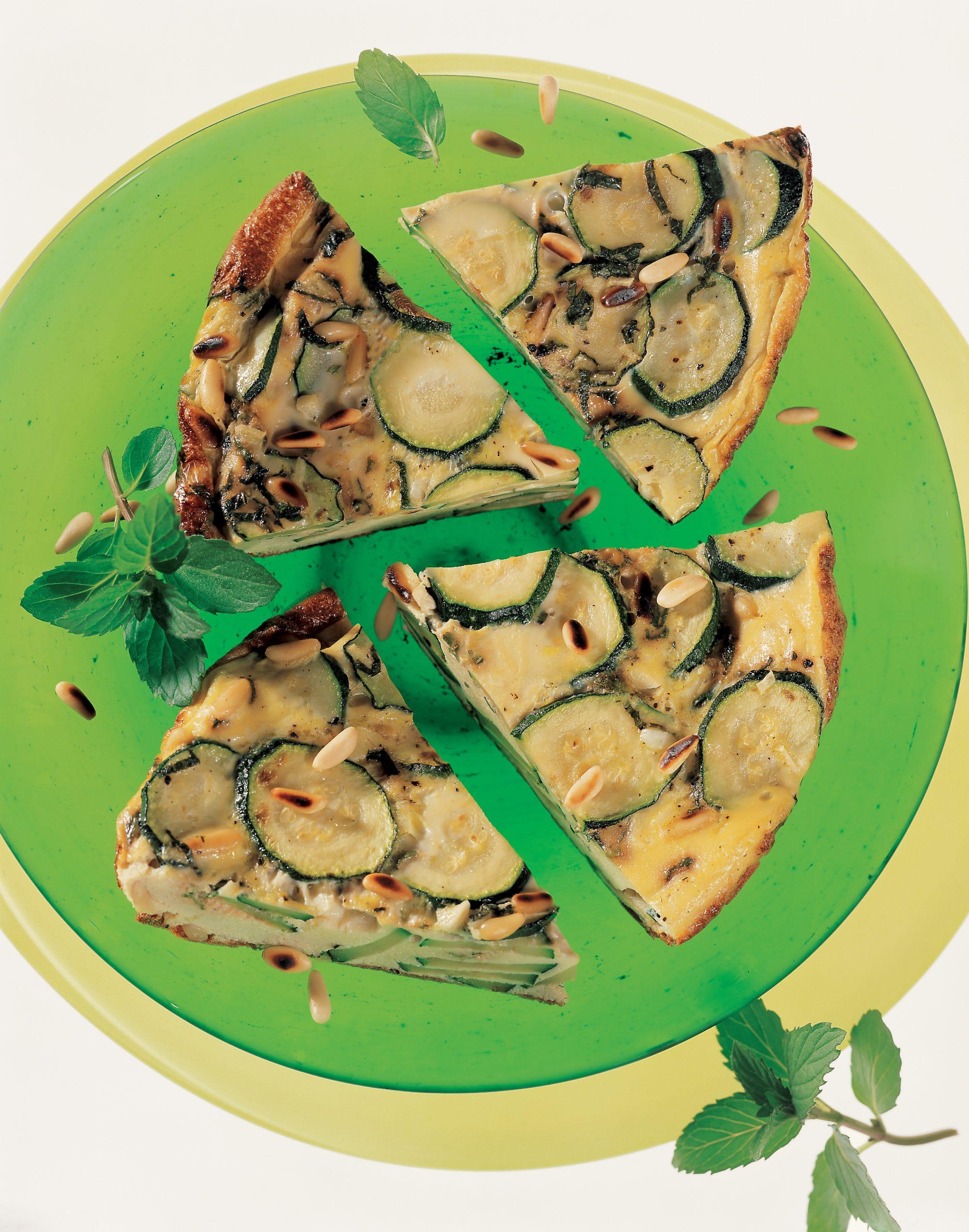 Zucchini-Tortilla mit Pfefferminz