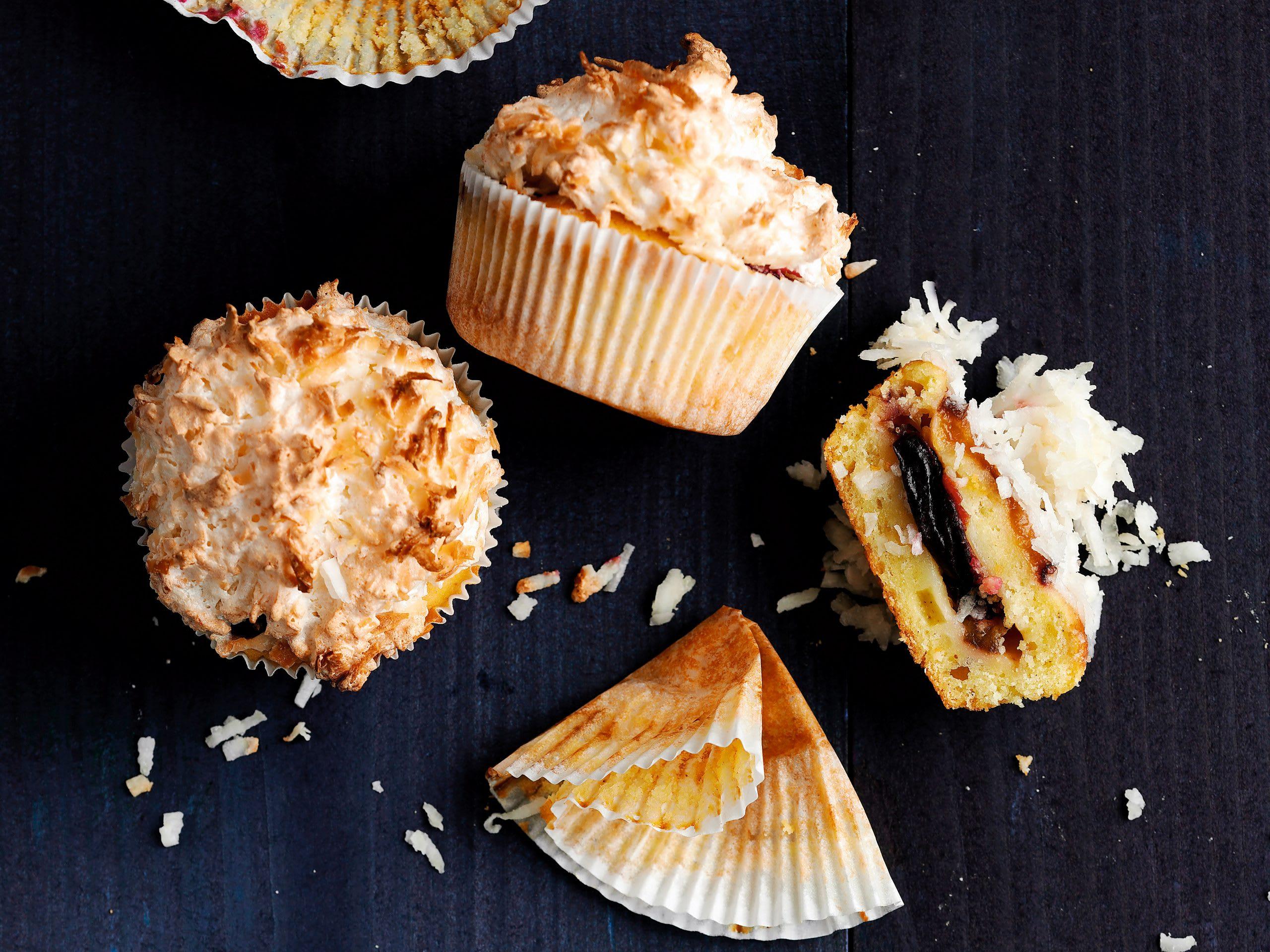 Zwetschgen-Kokos-Muffins