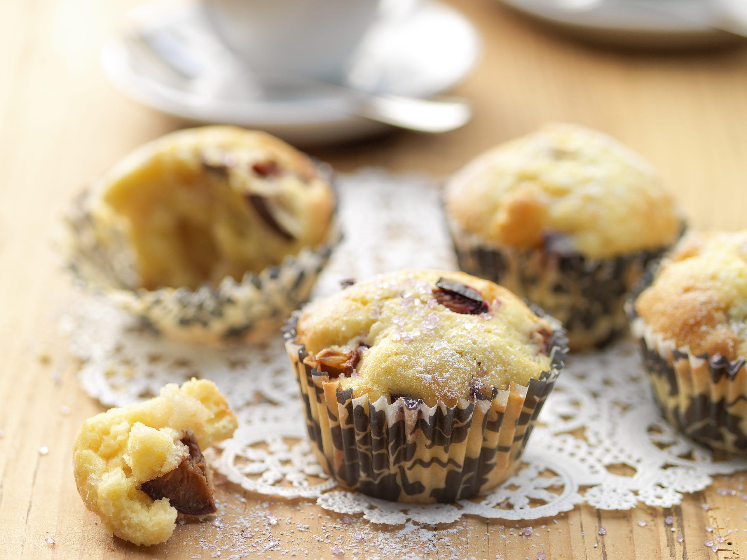 Zwetschgen-Marzipan-Muffins