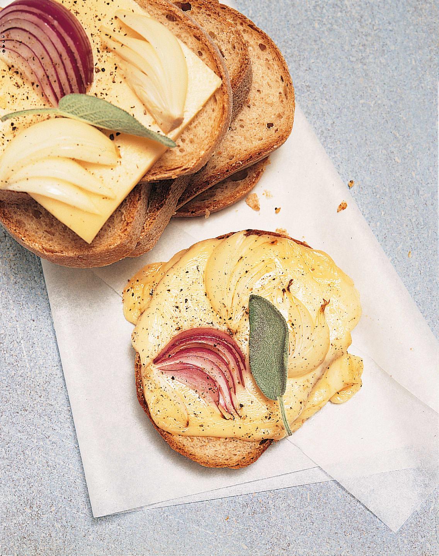 Zwiebel-Käseschnitten
