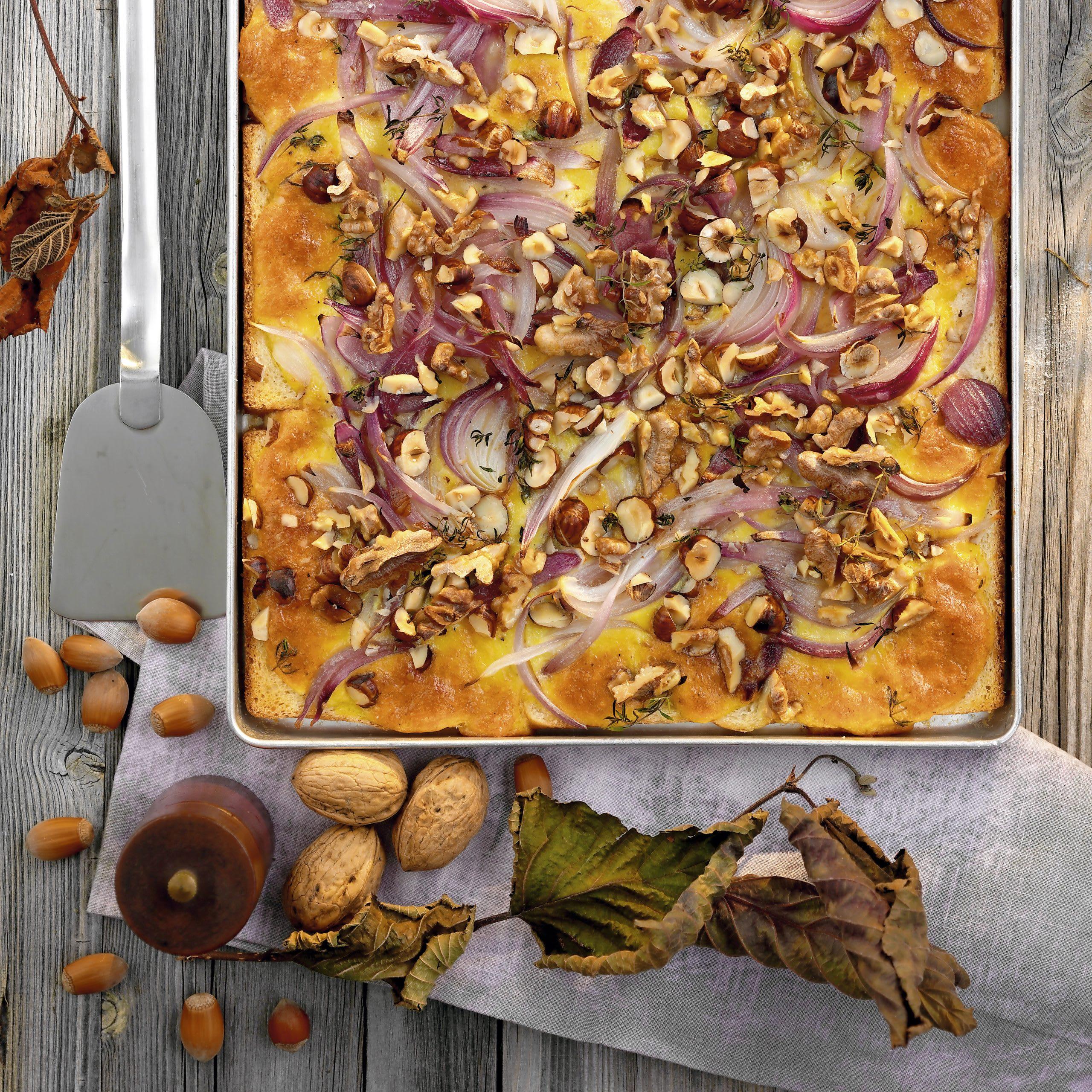 Tarte noix-oignon
