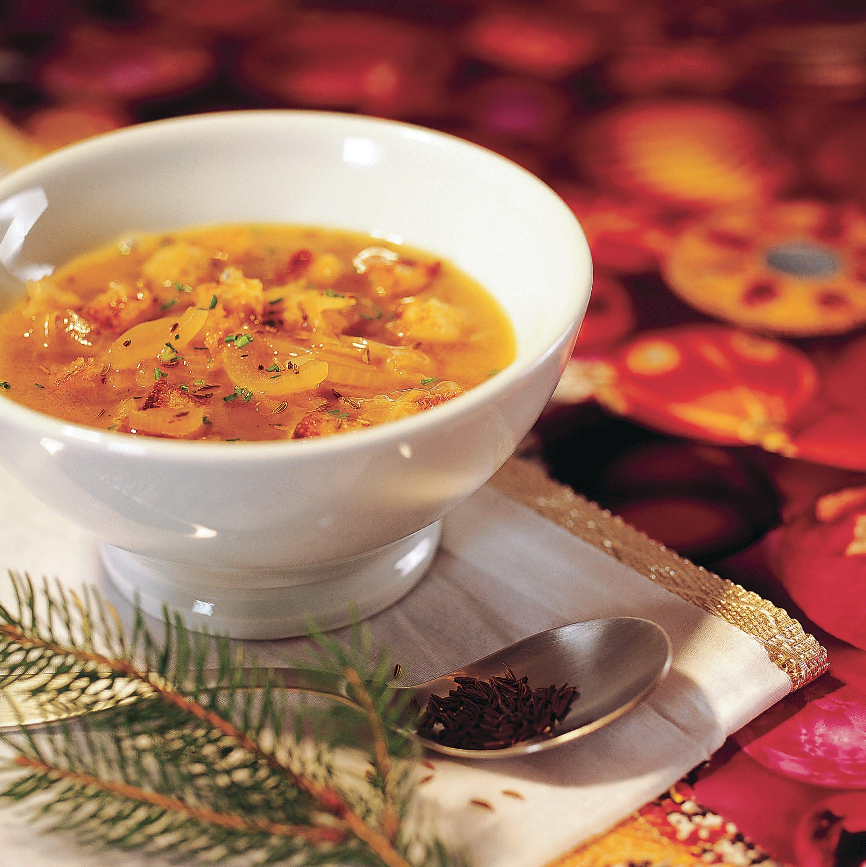 Soupe à l'oignon avec croûtons