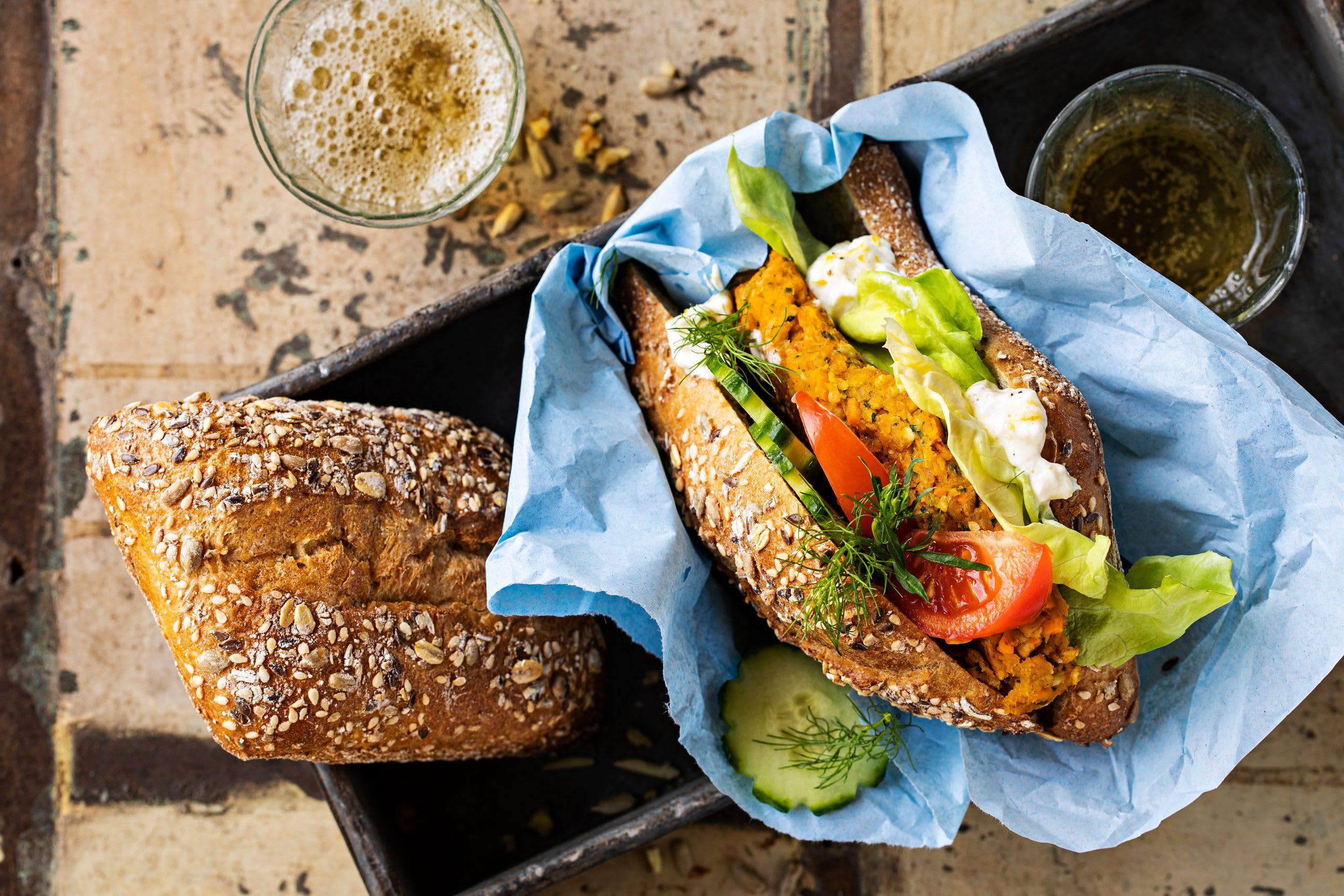 Süsskartoffel-Gemüse-Sandwiches