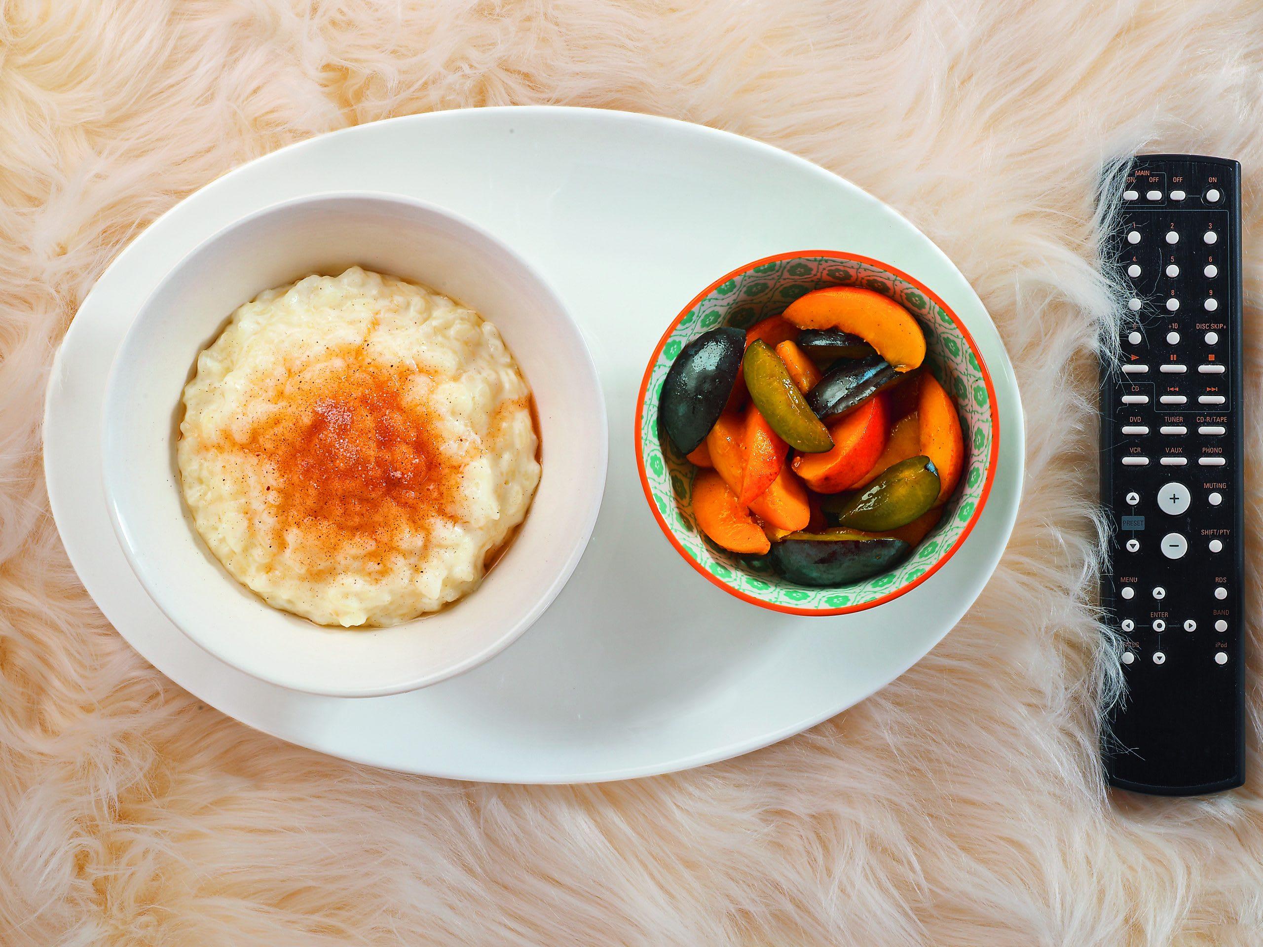 Lebkuchen-Milchreis mit Kompott