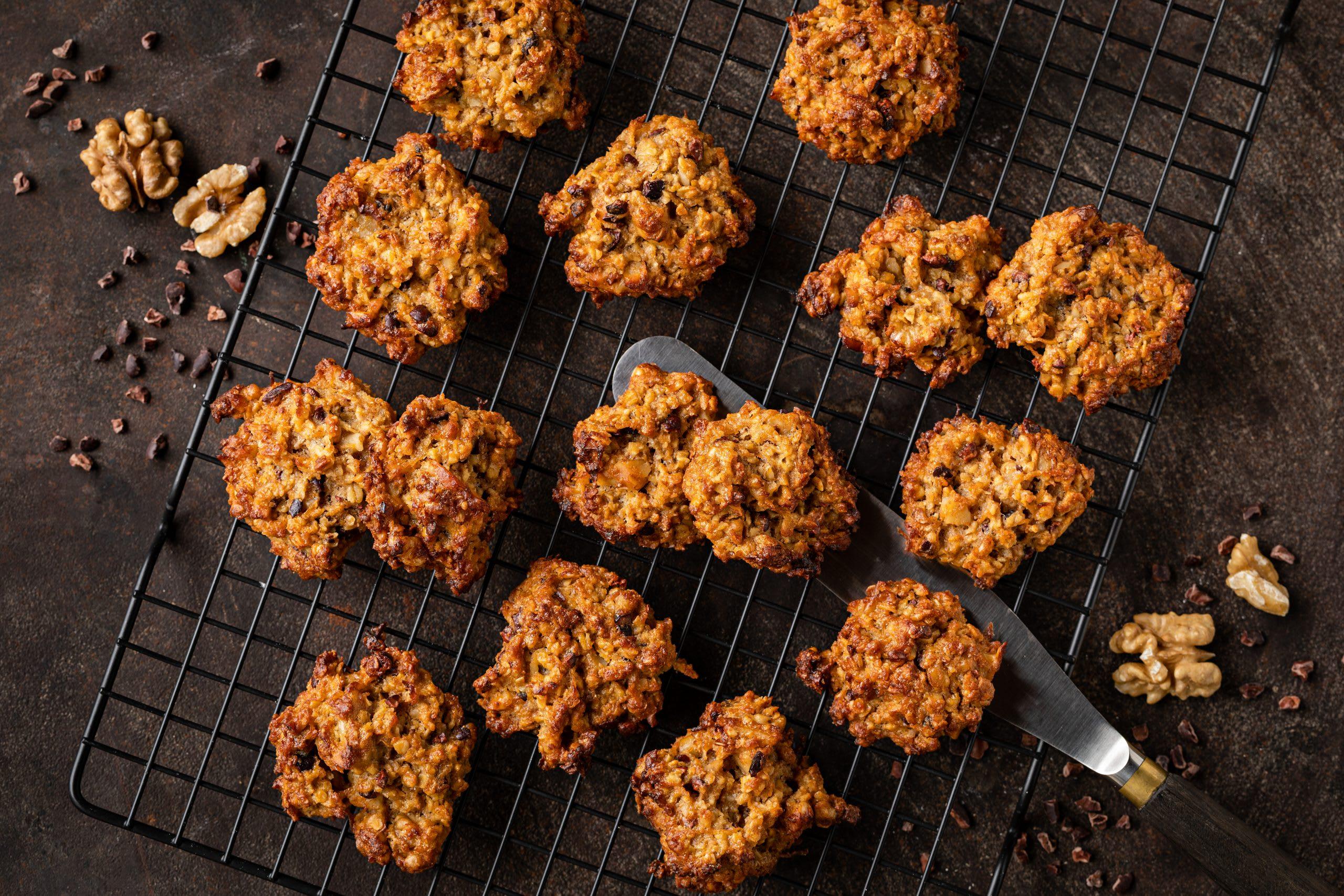 Haferflocken-Kürbis-Cookies (Guetzli ohne Zucker)