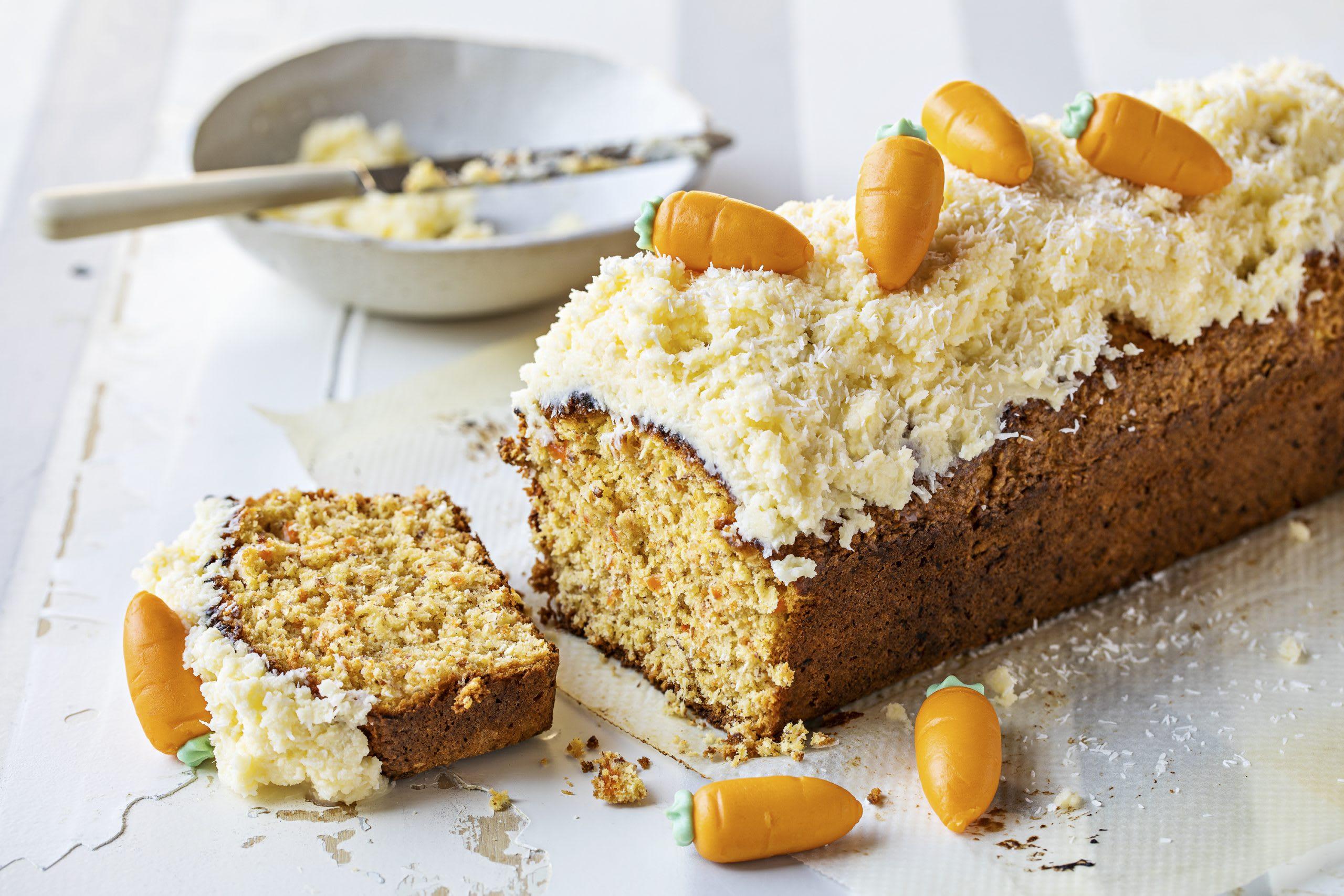 Cake aux carottes et à la noix de coco