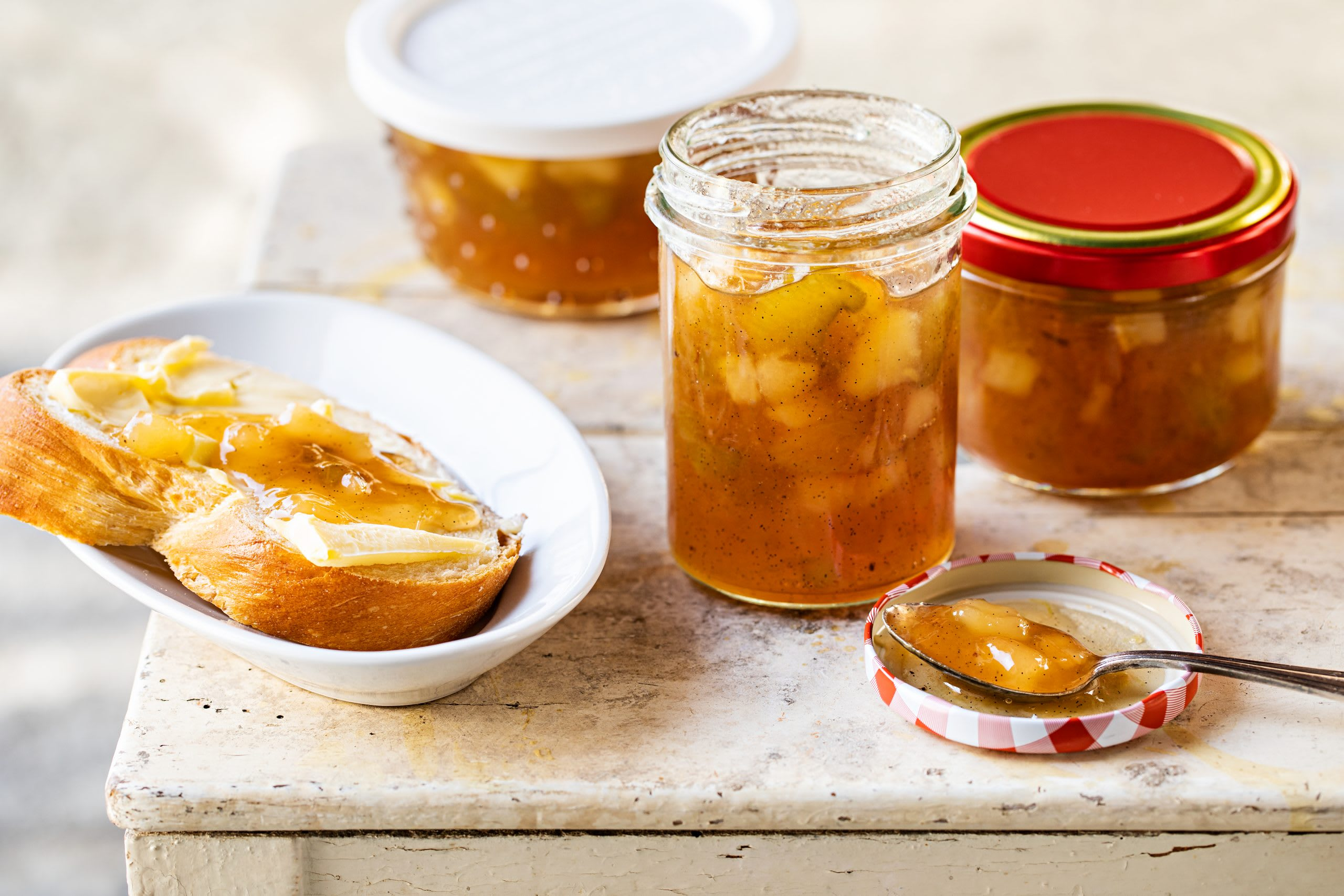 Confiture poire-rhubarbe